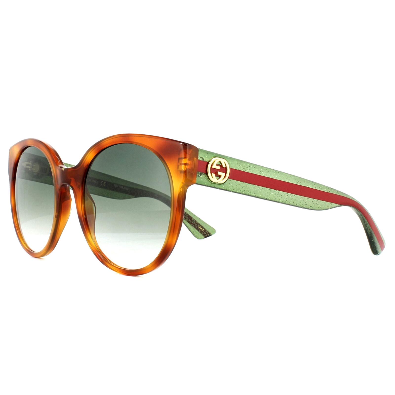 8d7ed6f6306 Sentinel Gucci Sunglasses GG0035S 003 Tortoise Green Red Green Gradient