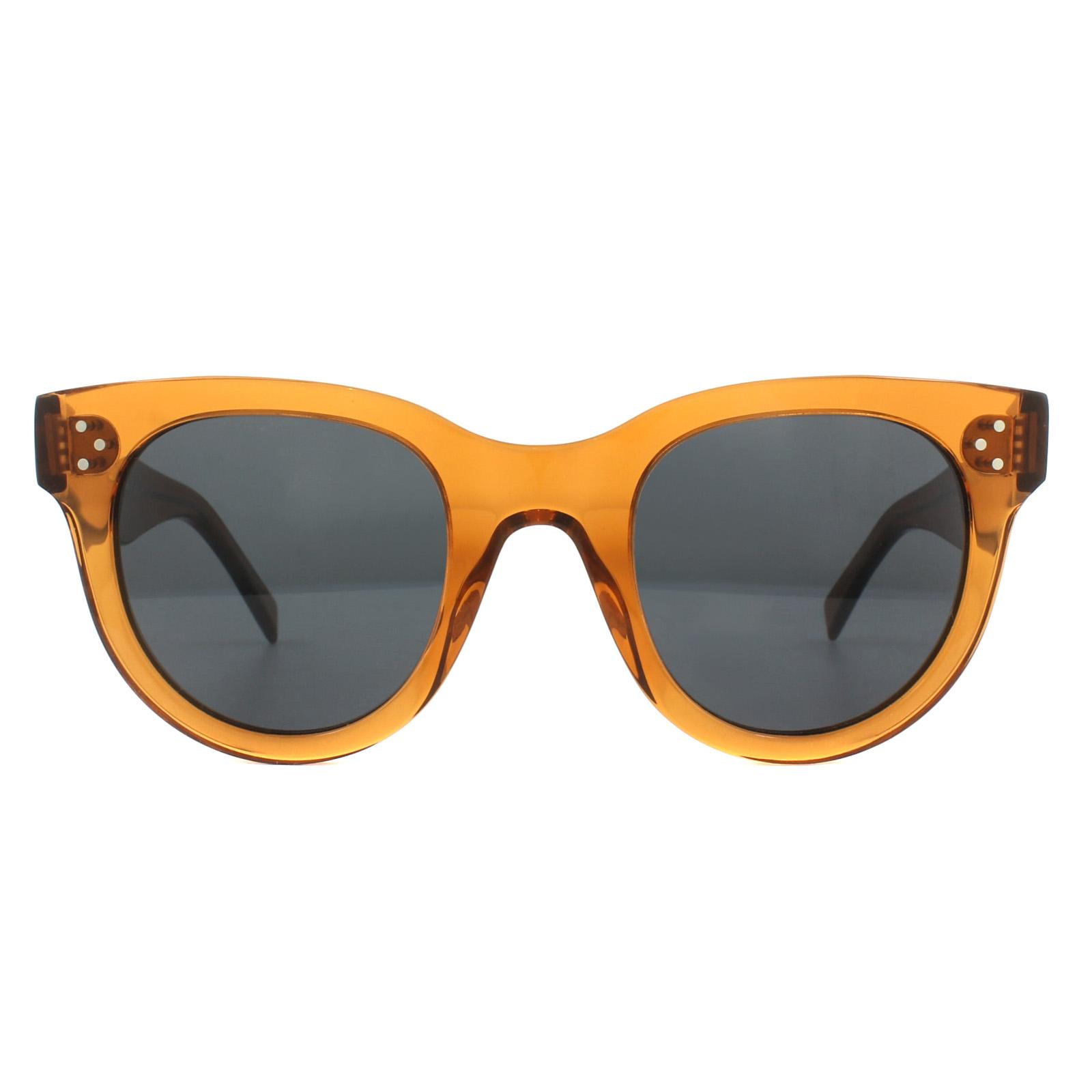 9a083eebce Sentinel Celine Sunglasses 41053S Baby Audrey F33 IR Transparent Orange Grey