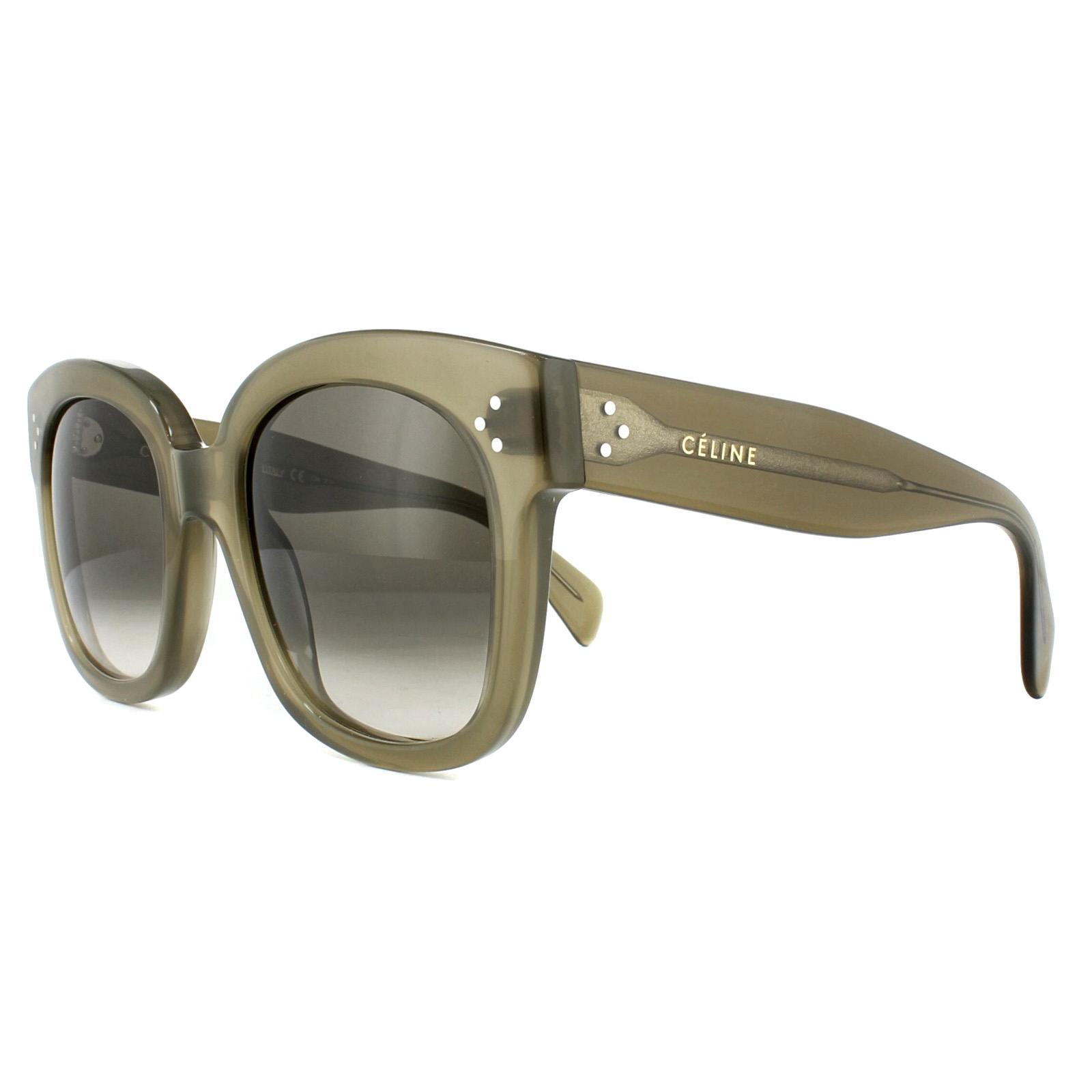 536b70e41478 Sentinel Celine Sunglasses 41805S New Audrey QP4 Z3 Military Green Brown  Gradient