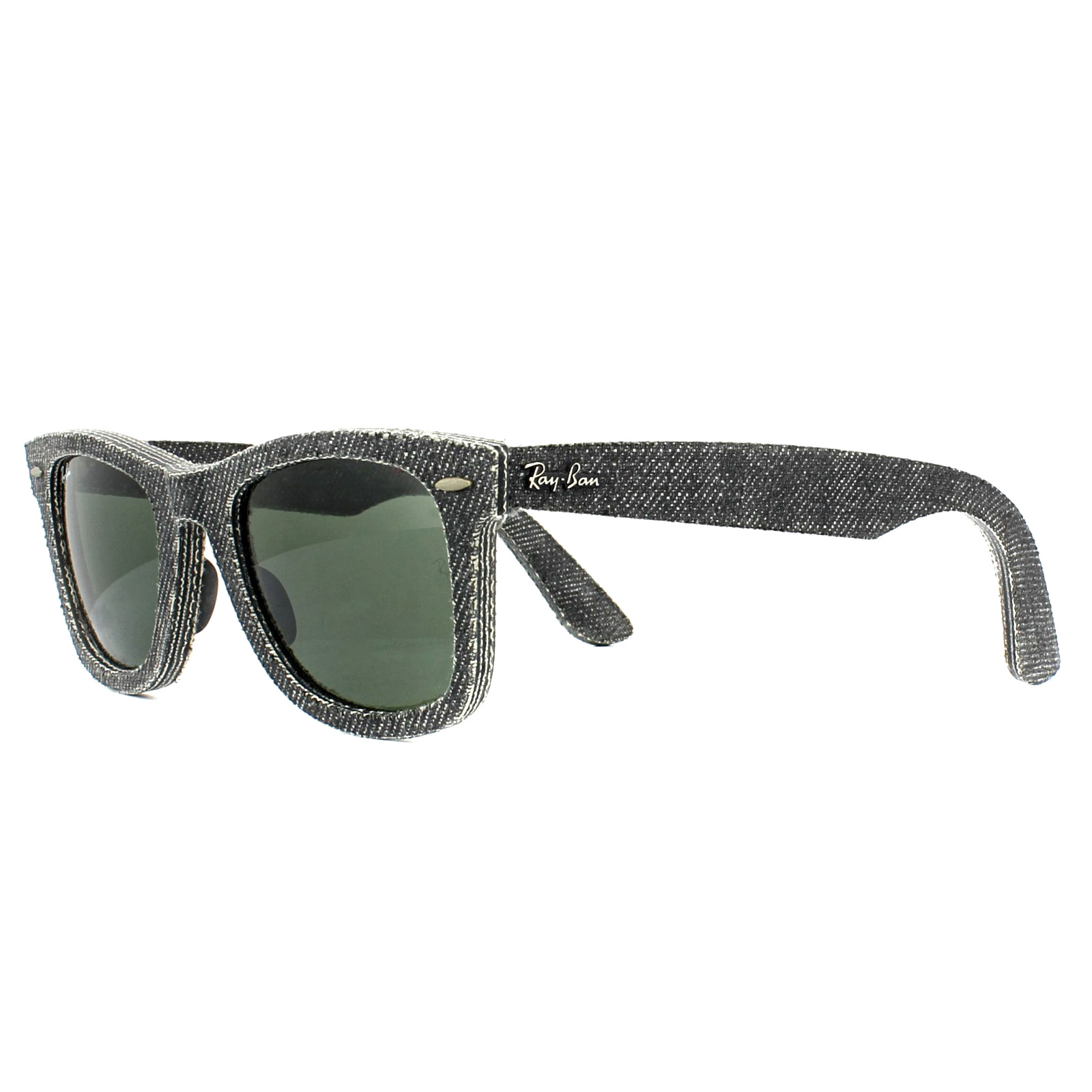 87a9c03eea Sentinel Ray-Ban Sunglasses Wayfarer 2140 1162 Denim Black Green 50mm Medium