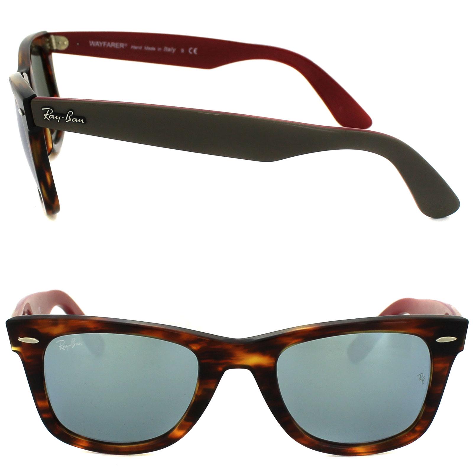cba2c6185e Sentinel Ray-Ban Sunglasses Wayfarer 2140 117830 Bicolor Tortoise Grey    Purple Mirror L