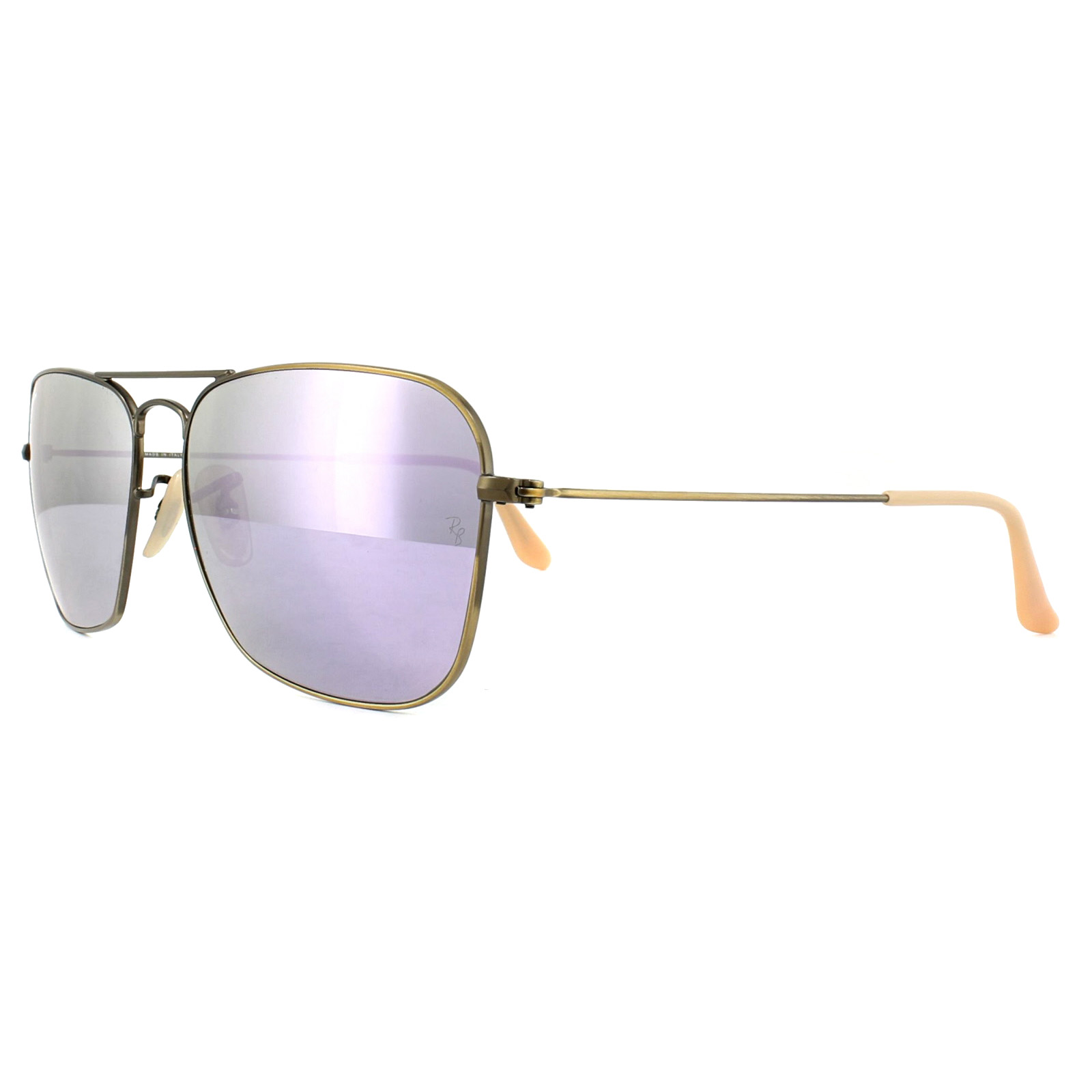 de6f01a263 Sentinel Ray-Ban Sunglasses Caravan 3136 167/4K Bronze Copper Lilac Mirror  58mm