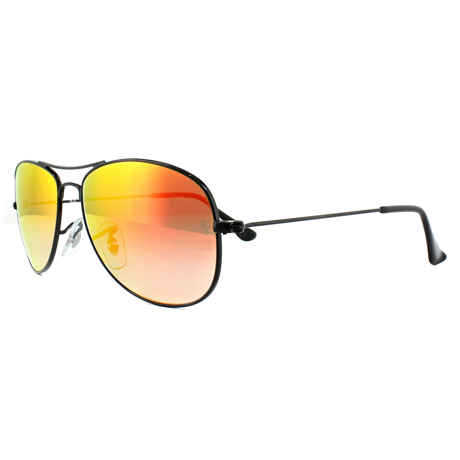 28cced1a26 Sentinel Ray-Ban Sunglasses Cockpit 3362 002 4W Black Orange Gradient  Mirror 56mm