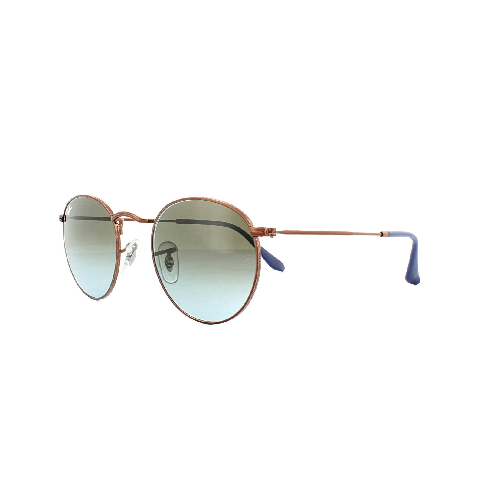 671486c07465 Sentinel Ray-Ban Sunglasses Round Metal 3447 900396 Bronze Copper Blue  Brown Gradient 53m