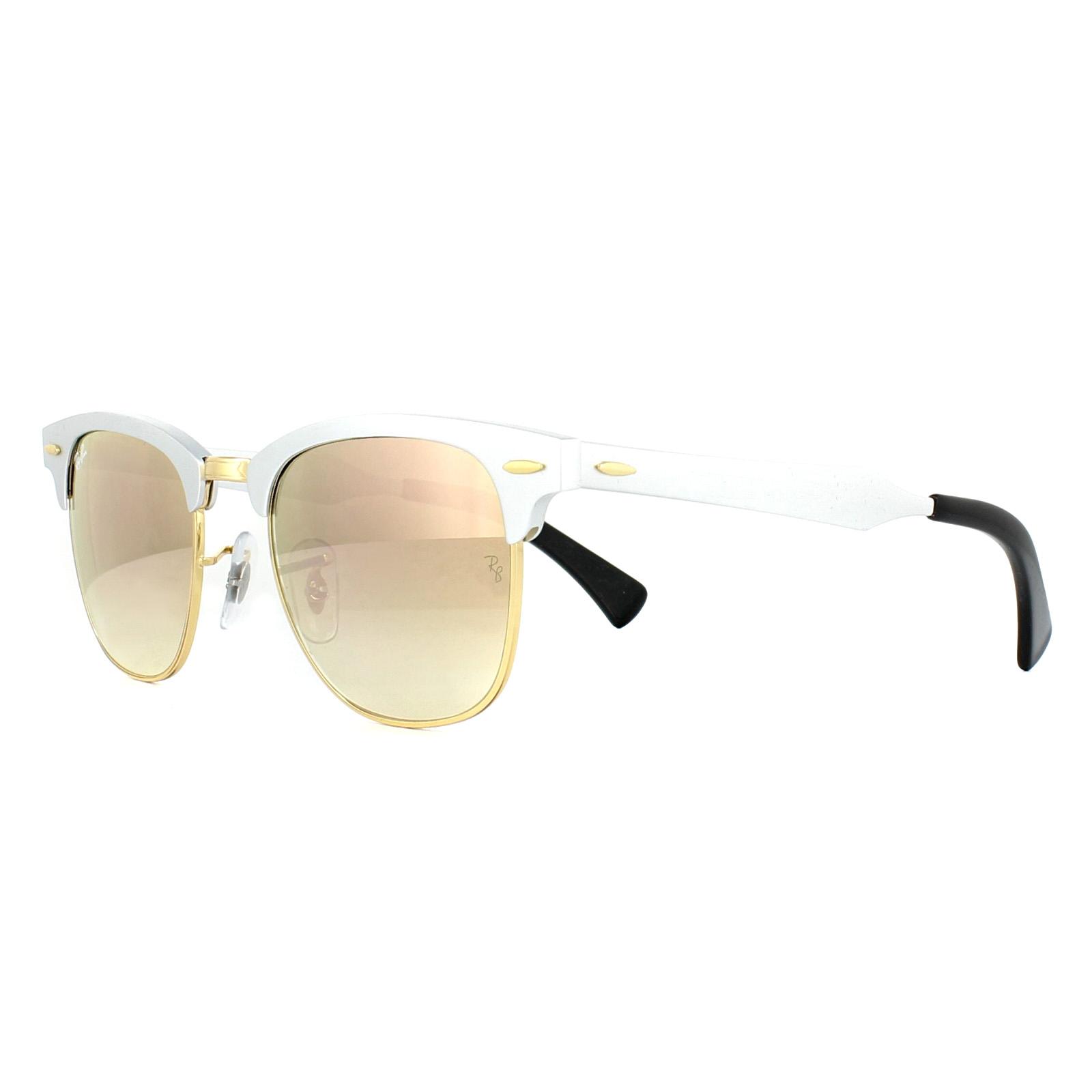 c75c2275e7 Sentinel Ray-Ban Sunglasses Clubmaster Aluminium 3507 137 7O Silver Copper  Mirror 49mm