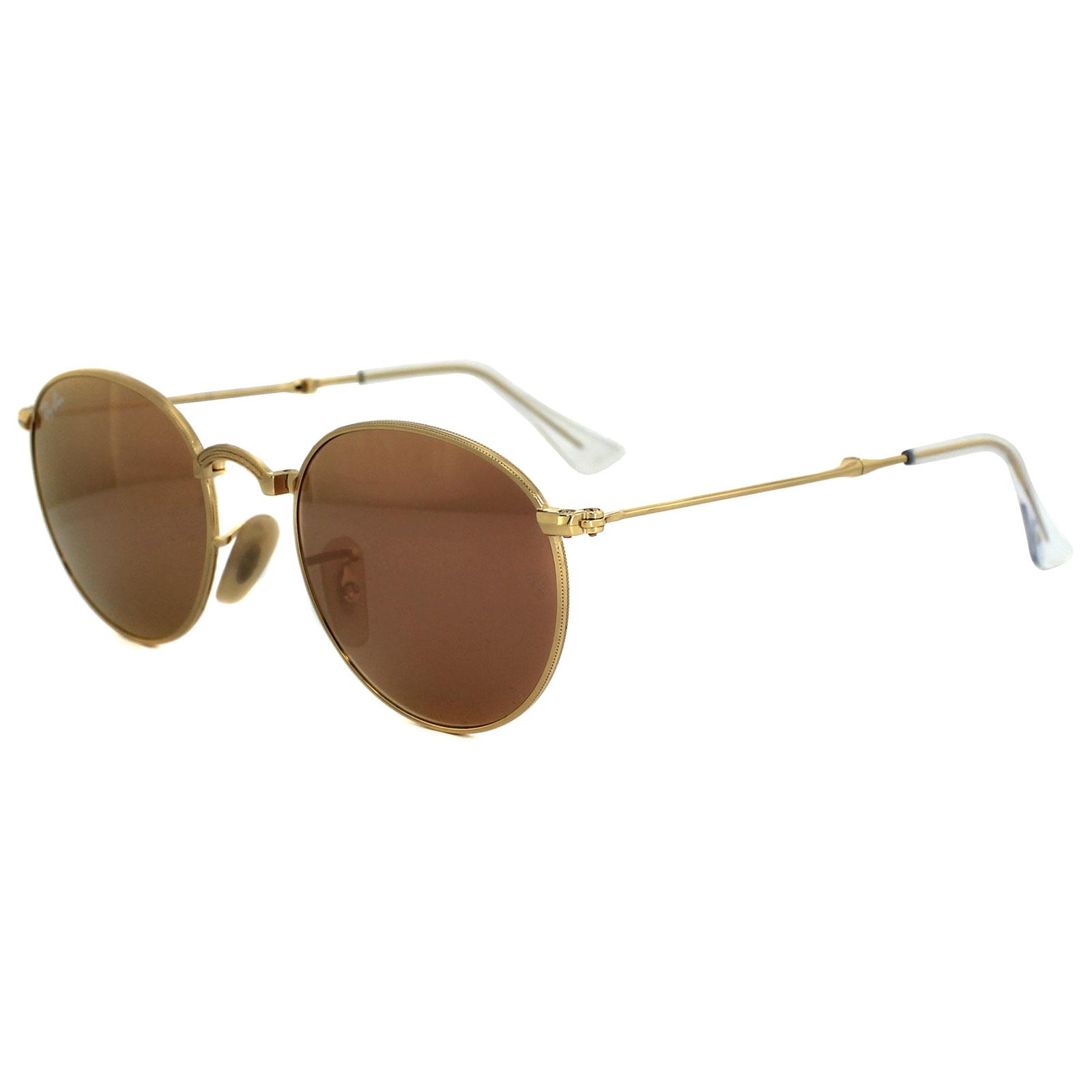 32354dbb66 Sentinel Ray-Ban Sunglasses Round Folding 3532 001 Z2 Gold Copper Mirror  50mm