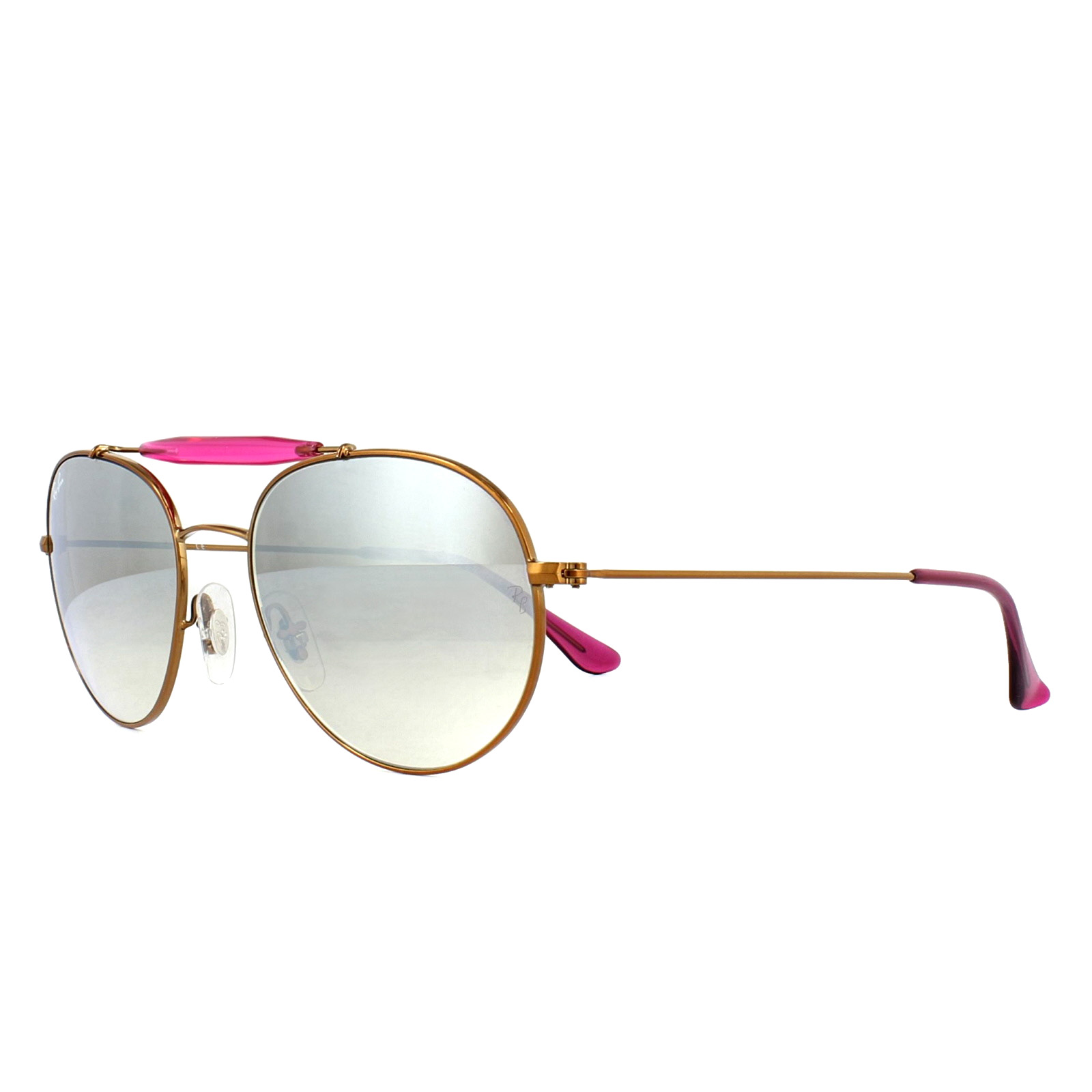 19a664d37b120 Sentinel Ray-Ban Sunglasses 3540 198 9U Bronze Copper Pink Silver Gradient  Mirror 53mm