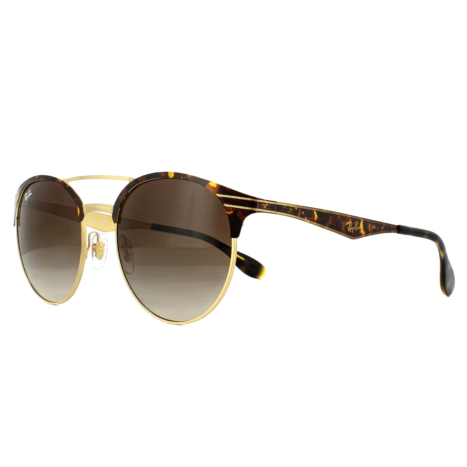 53003596287 Sentinel Ray-Ban Sunglasses 3545 900813 Tortoise Gold Brown Gradient 54mm