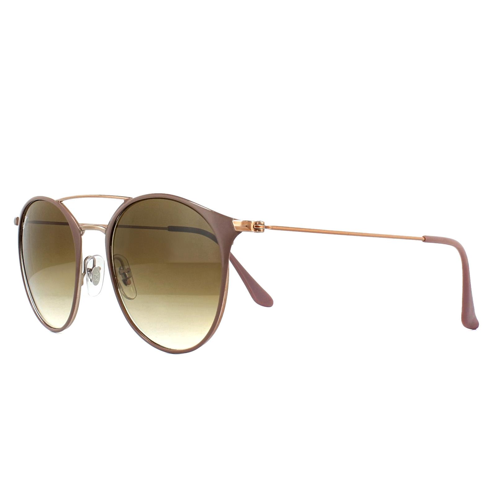 2aa26c63cd5c6 Sentinel Ray-Ban Sunglasses 3546 907151 Brown Bronze Copper Light Brown  Gradient 52mm