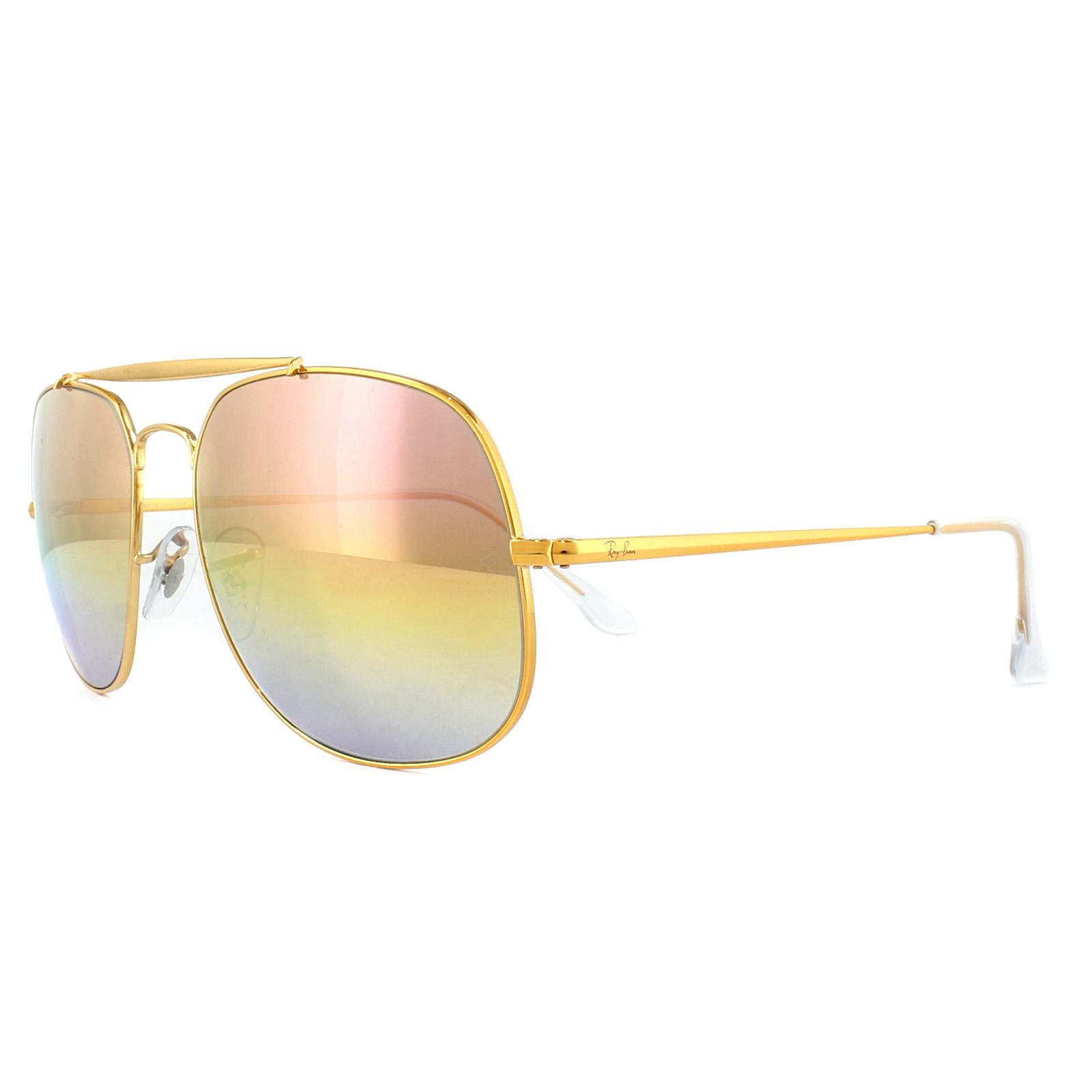 6bc3d39977181 Sentinel Ray-Ban Sunglasses General 3561 9001I1 Bronze Copper Pink Gradient  Mirror