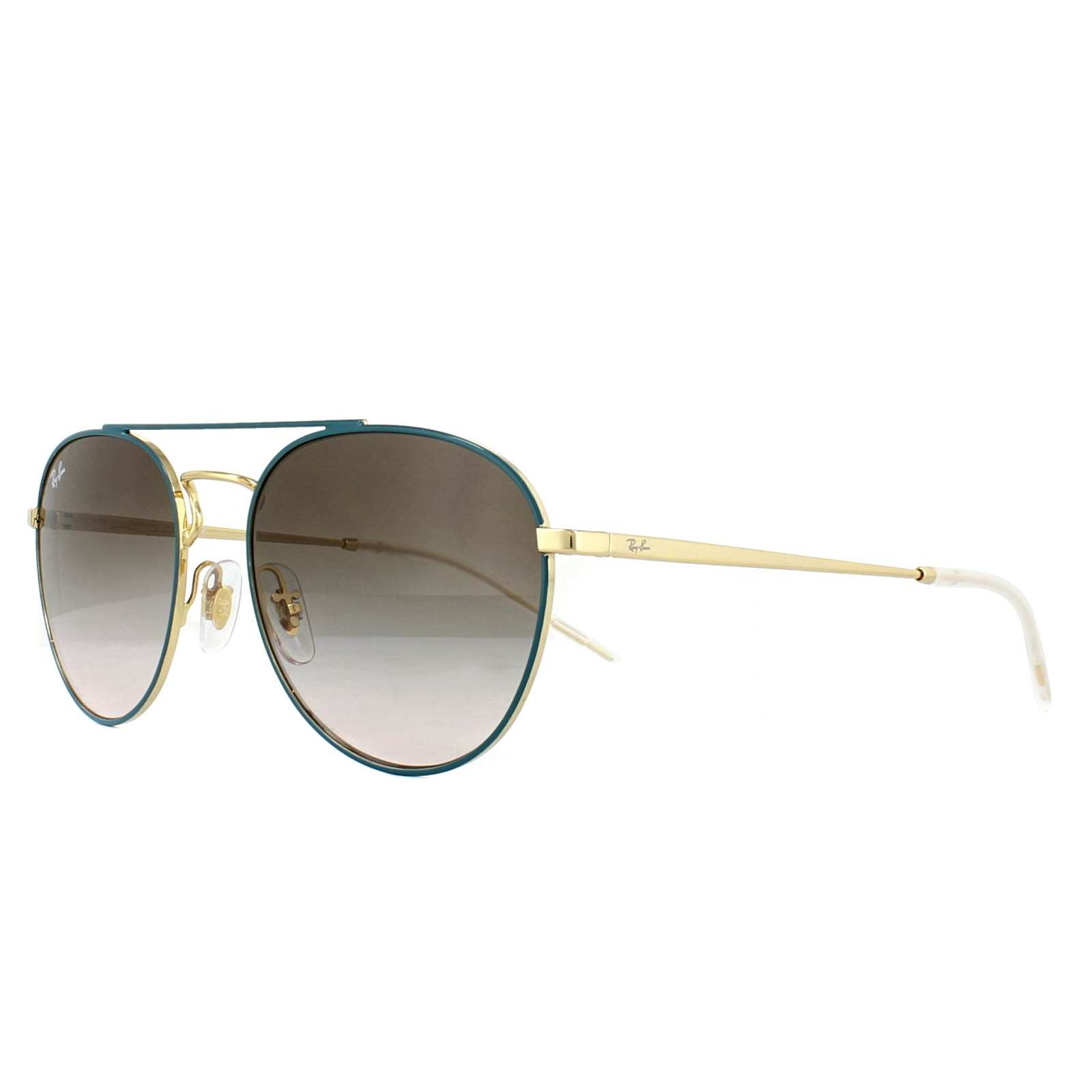 2ffbddf2e2 Sentinel Ray-Ban Sunglasses 3589 905613 Green Gold Brown Gradient
