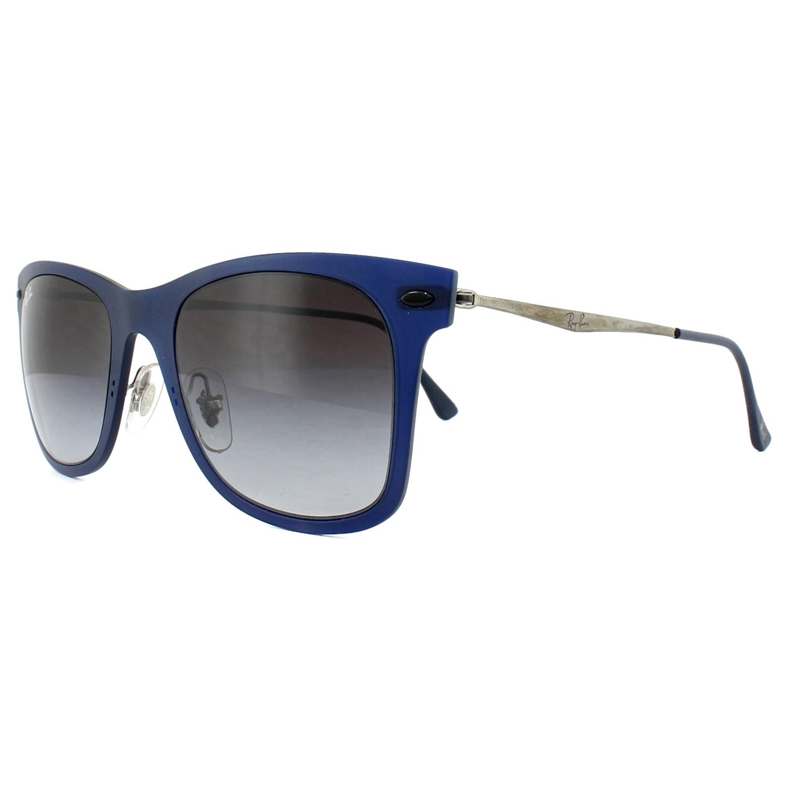 Sentinel Ray-Ban Sunglasses Wayfarer Light Ray 4210 895 8G Blue Gunmetal  Grey Gradient a9892da88b