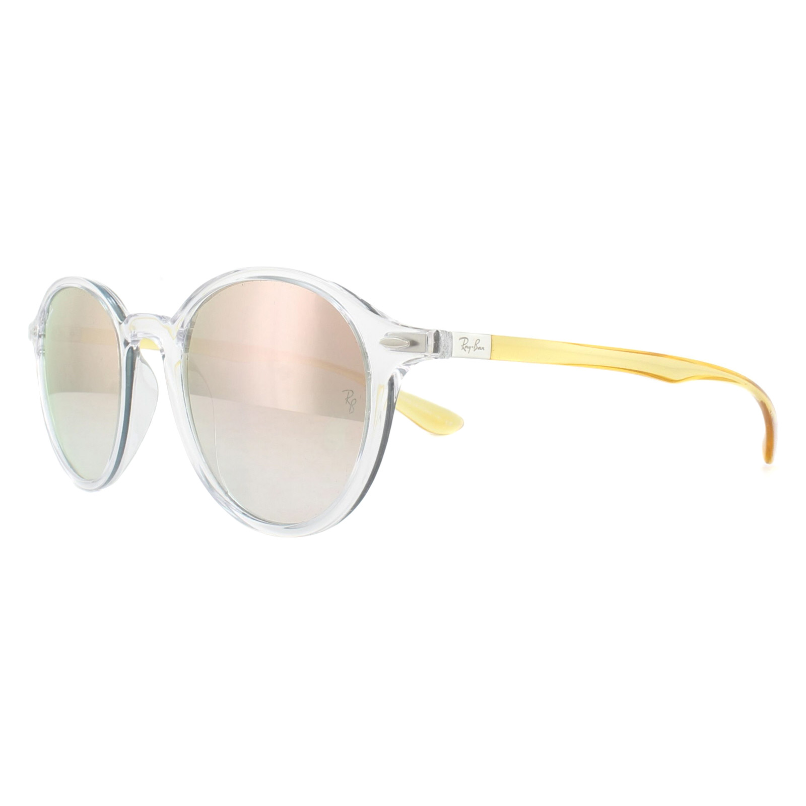 7a1fb3a865e Sentinel Ray-Ban Sunglasses Round Liteforce 4237 62887Y Clear with Yellow  Copper Mirror