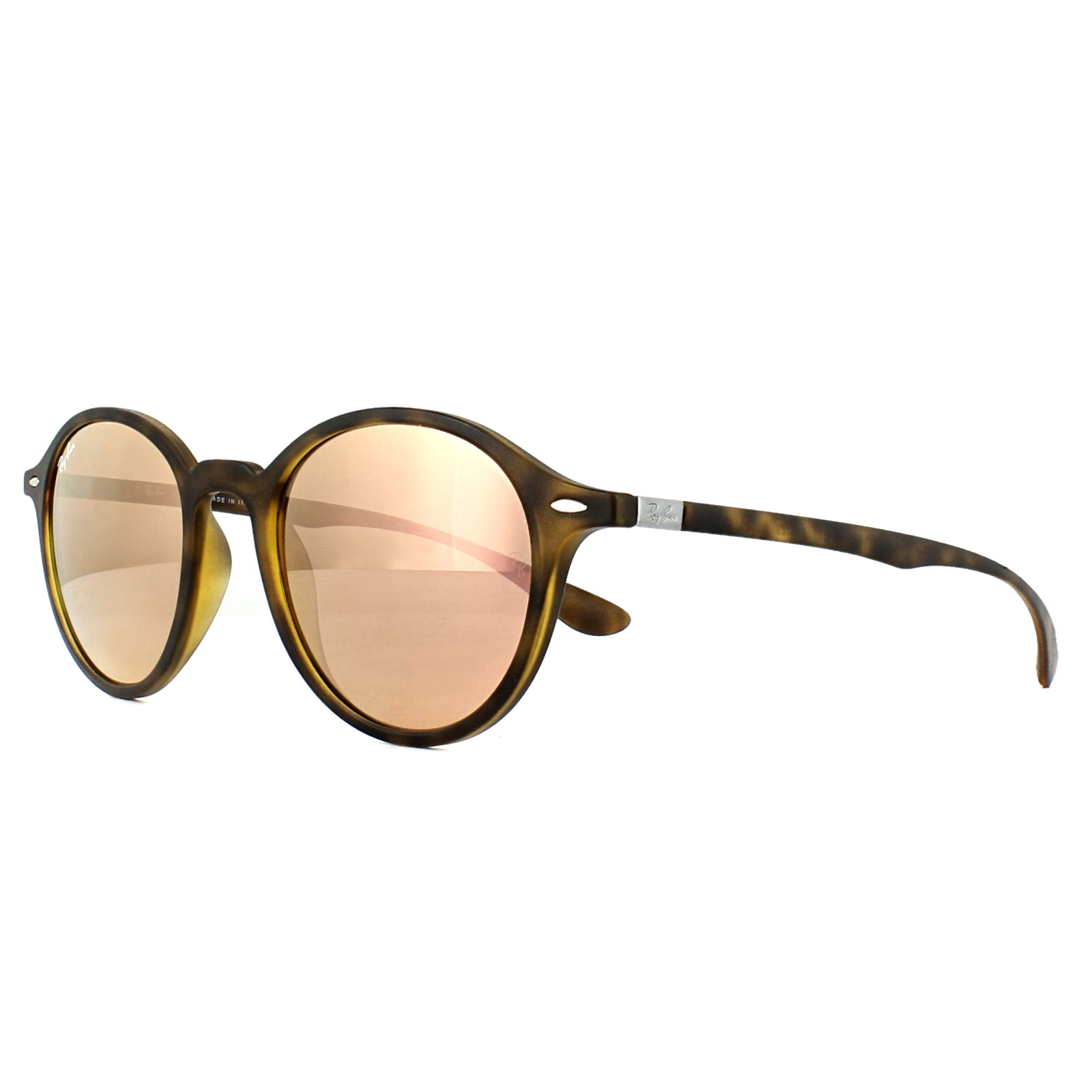 bbe3761f455 Sentinel Ray-Ban Sunglasses Round Liteforce 4237 894 Z2 Tortoise Copper  Mirror