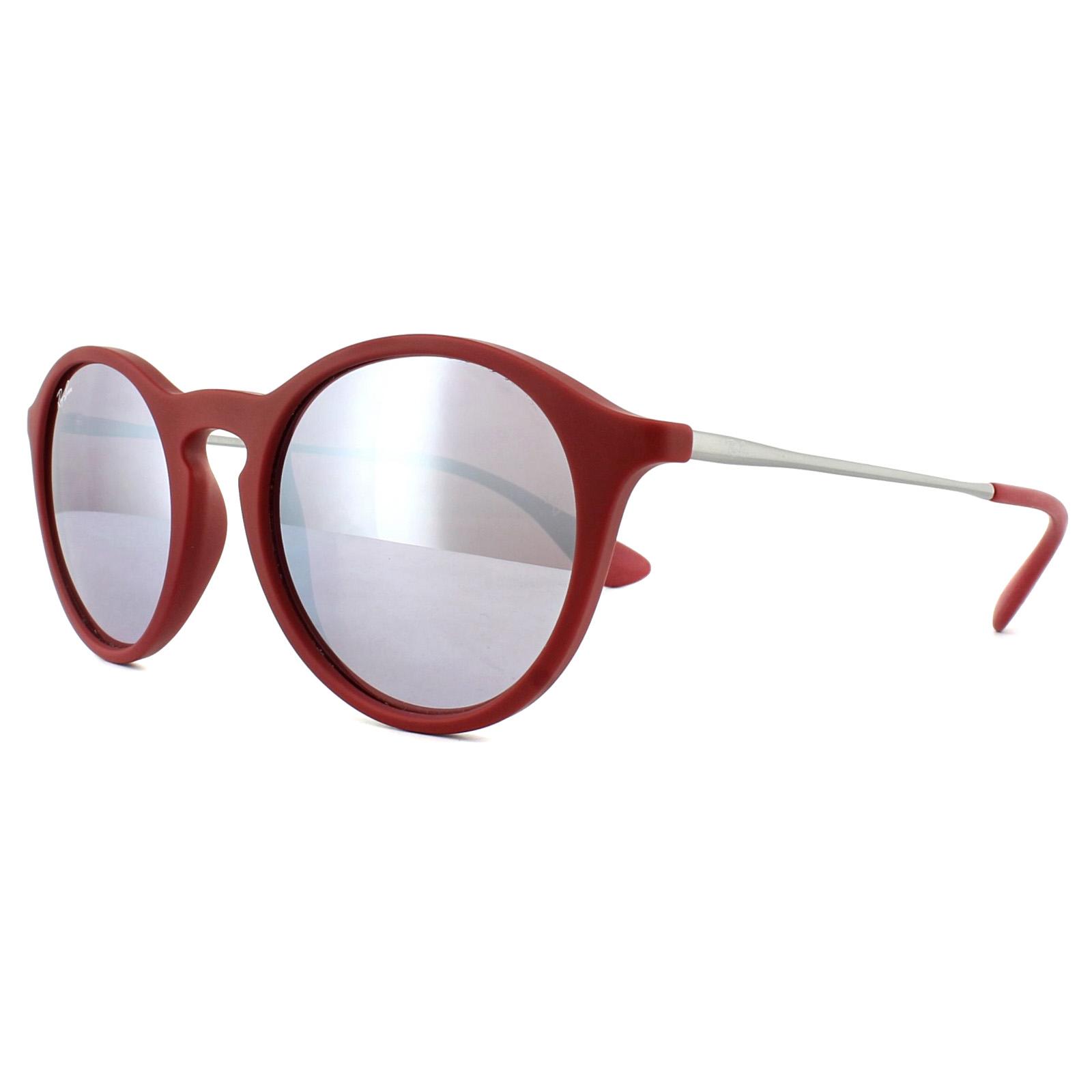 6dfca9785b012 SENTINEL Ray-Ban occhiali da sole 4243 6264B5 Bordeaux Gunmetal rosa  specchio d argento