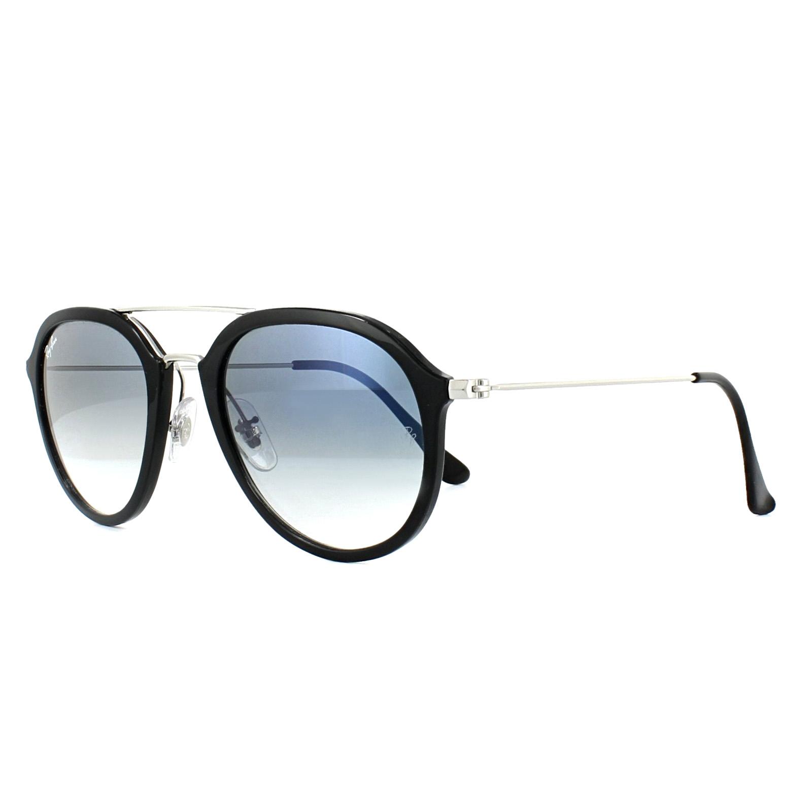666f9cdd2c ... best sentinel ray ban sunglasses 4253 62923f black silver light blue  gradient 685d9 1e7f2