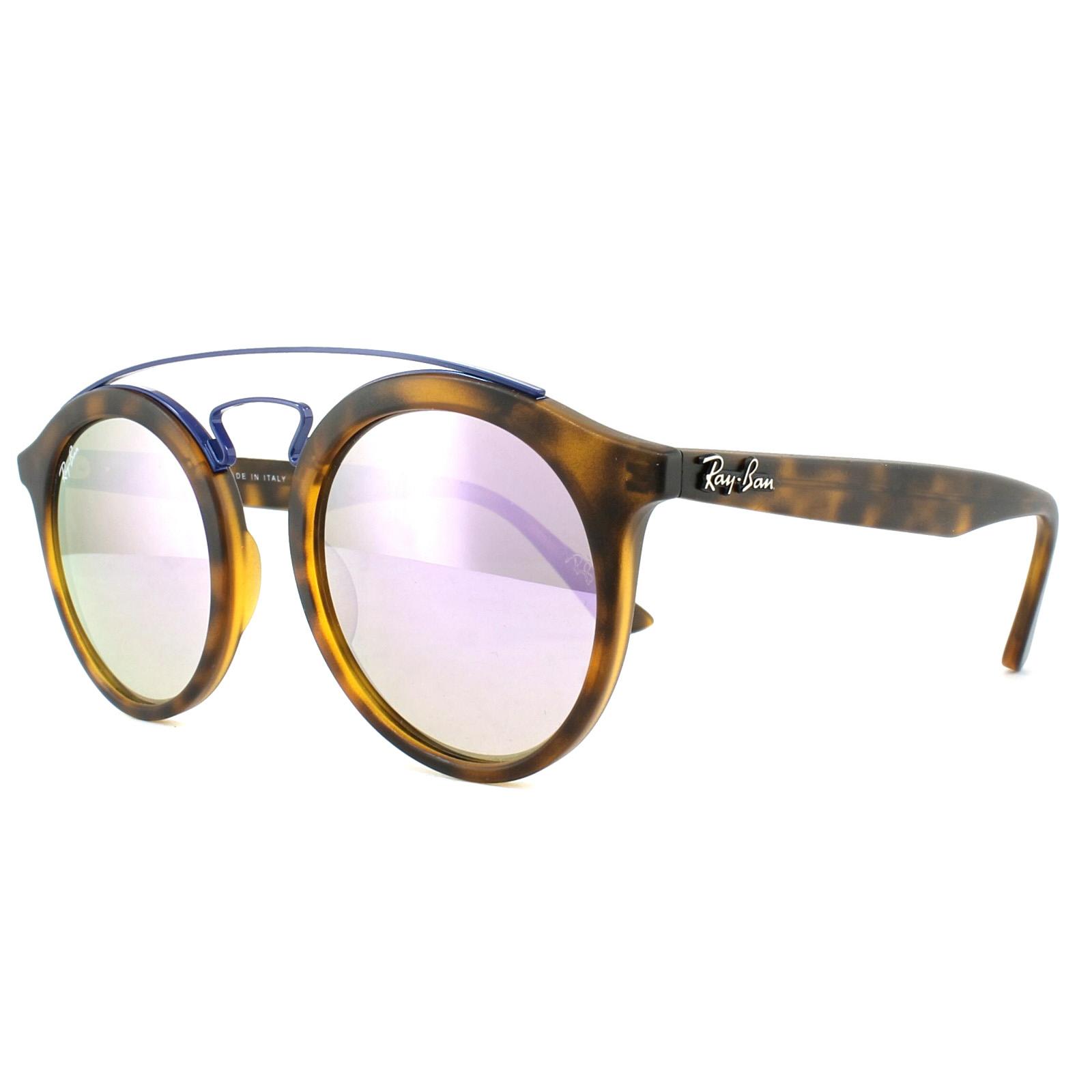 20b0f752a7 Sentinel Ray-Ban Sunglasses Gatsby 4256 6266B0 Tortoise Lilac Gradient  Mirror 46mm