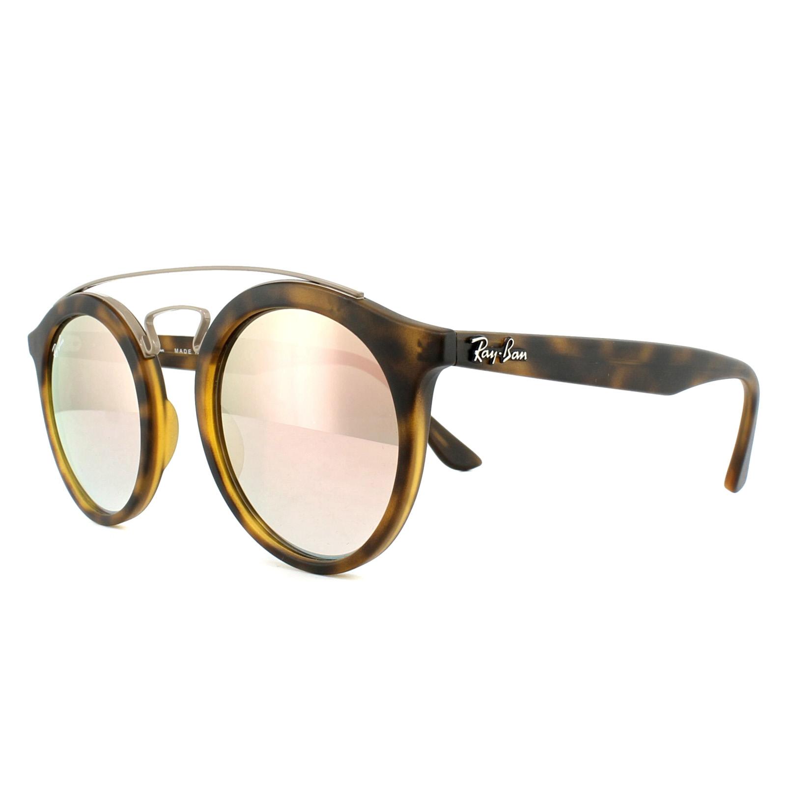 ad9dfb2f3d5 Sentinel Ray-Ban Sunglasses Gatsby 4256 6267B9 Tortoise Copper Gradient  Mirror 46mm