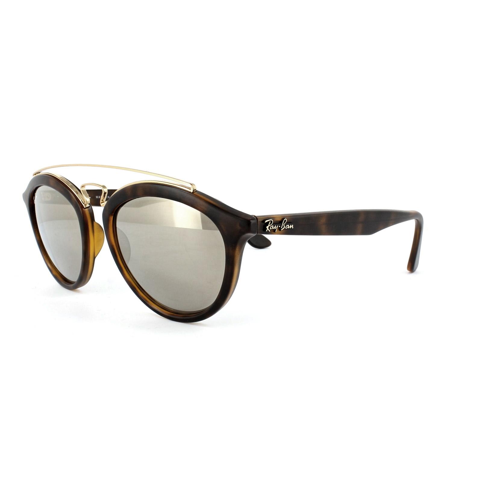 8504fa89f9f96 Sentinel Ray-Ban Sunglasses New Gatsby 4257 60925A Matt Havana Brown Gold  Mirror 50mm
