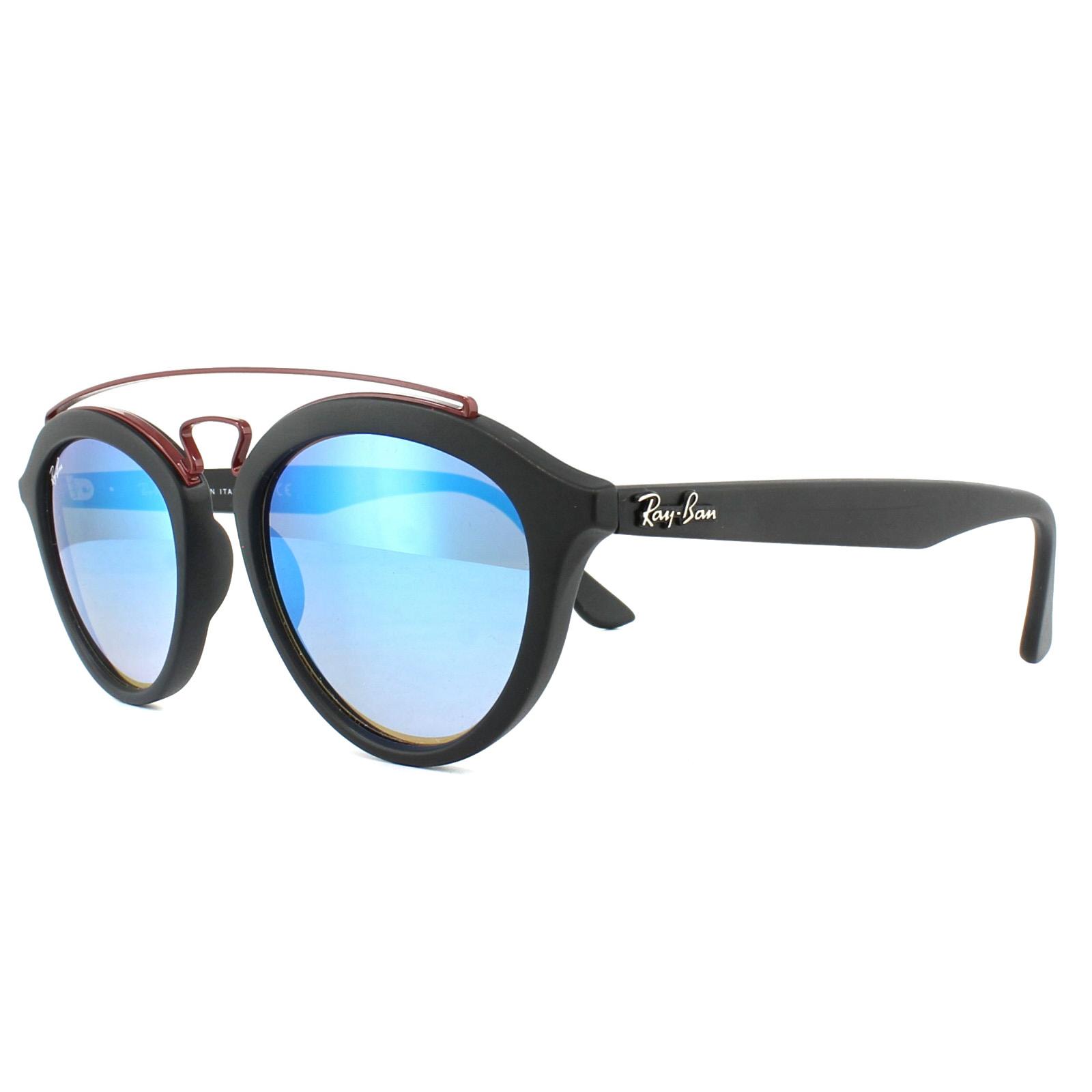 3e4e56b9e77 Sentinel Ray-Ban Sunglasses New Gatsby 4257 6252B7 Black Blue Gradient  Mirror 50mm