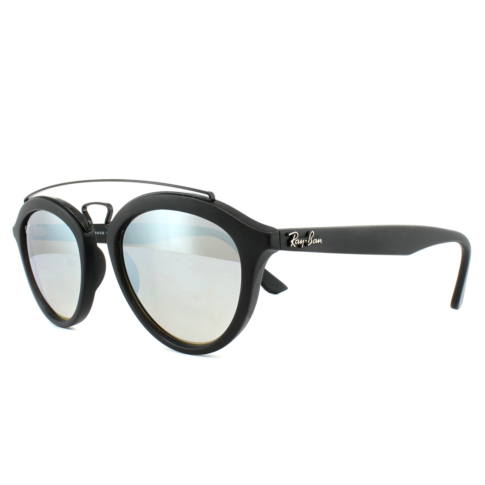 42db5af1573d1 Sentinel Ray-Ban Sunglasses New Gatsby 4257 6253B8 Black Silver Brown Mirror  50mm