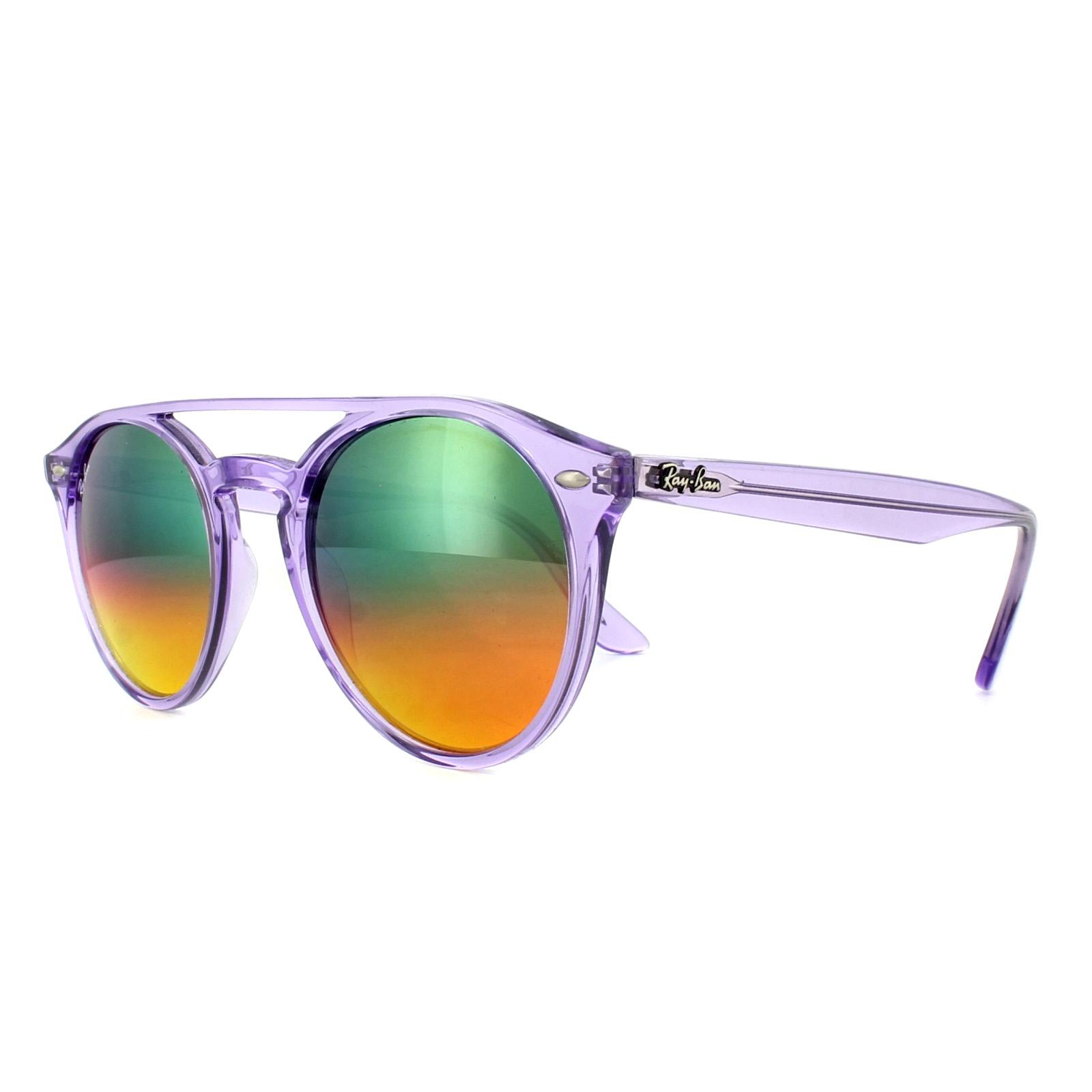 5589635cacb Sentinel Ray-Ban Sunglasses 4279 6280A8 Violet Orange Gradient Mirror