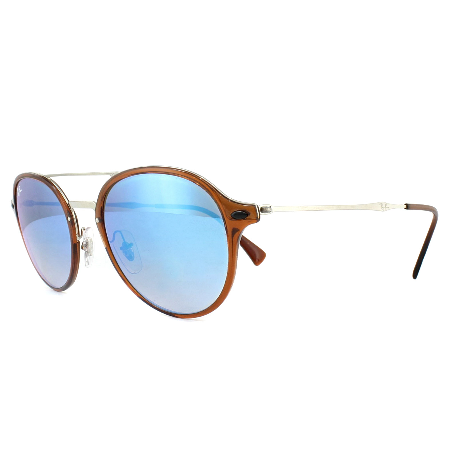 d670ded80 Sentinel Ray-Ban Sunglasses 4287 604/B7 Brown Silver Blue Gradient Mirror