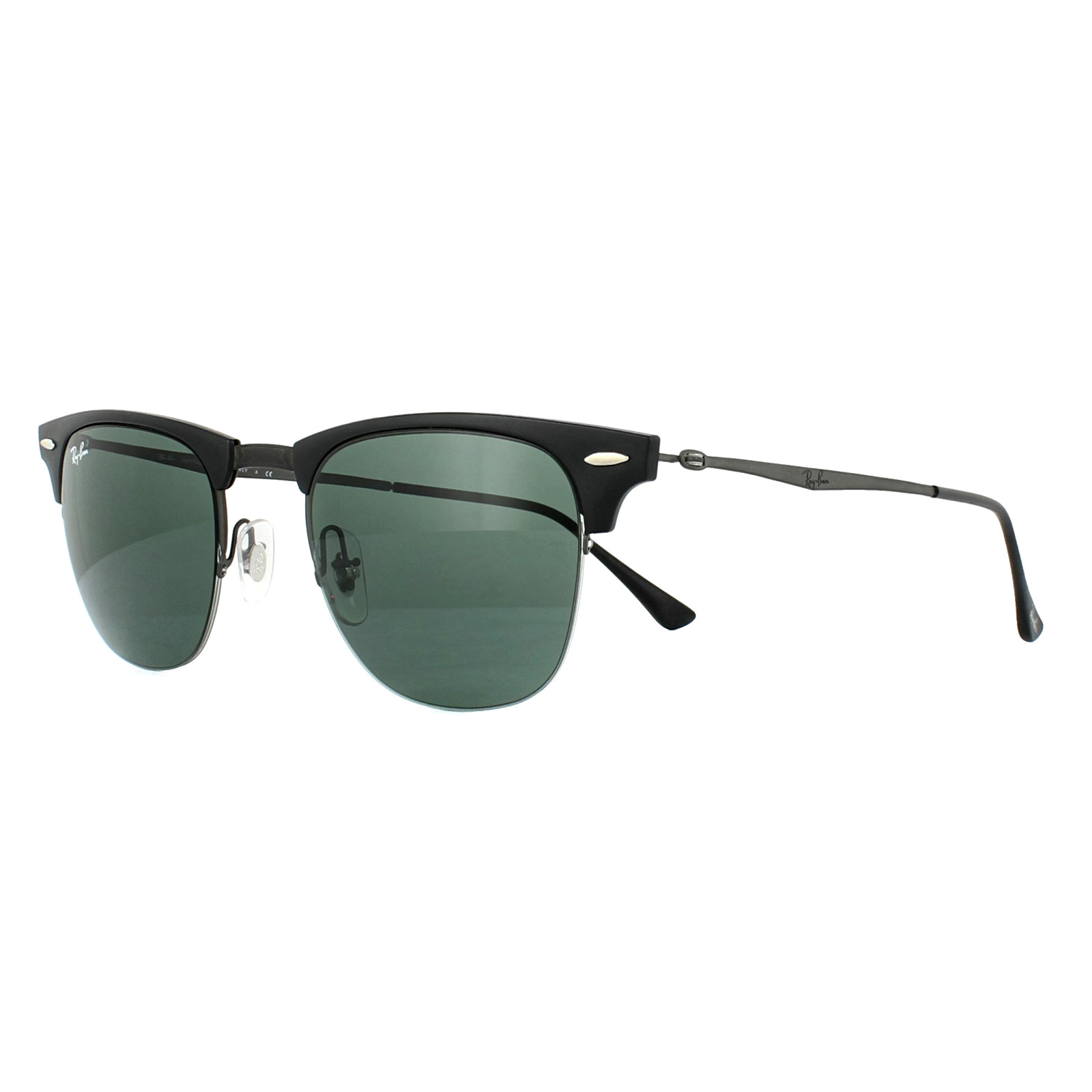 0cfec0936b782 Sentinel Ray-Ban Sunglasses Clubmaster Light Ray 8056 154 71 Black Gunmetal  Green 51mm