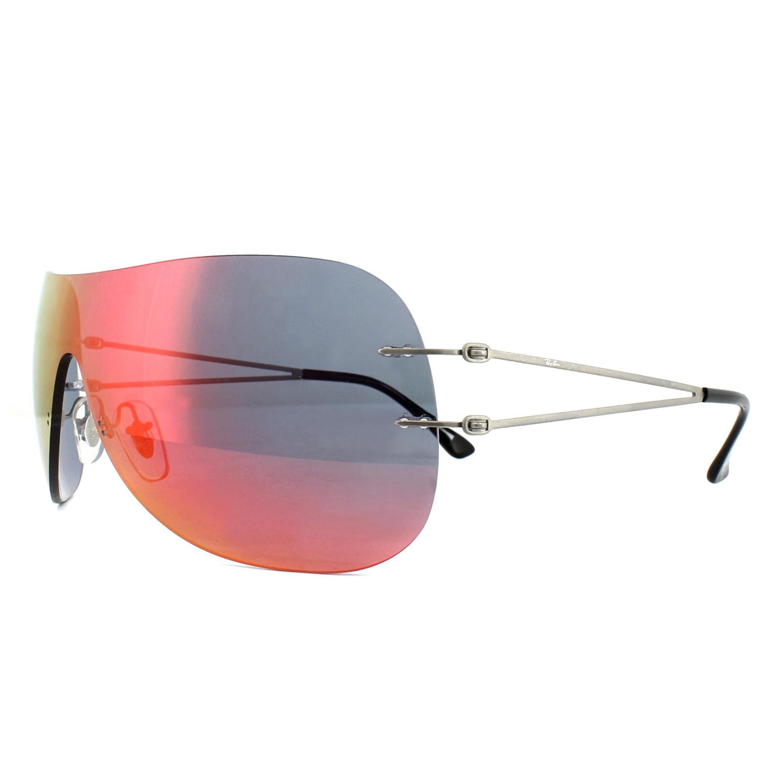 6a3bb5baf3a Ray-Ban Sunglasses 8057 159 6Q Grey Orange Mirror 8053672647501