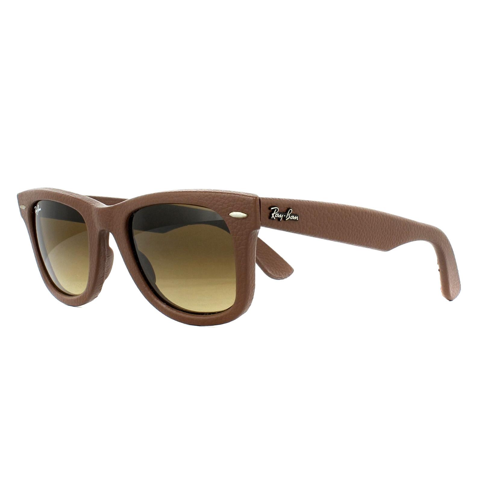00d518bb32 CENTINELA Ray-Ban gafas de sol Wayfarer 2140QM 116985 bronce cobre cuero  marrón degradado M