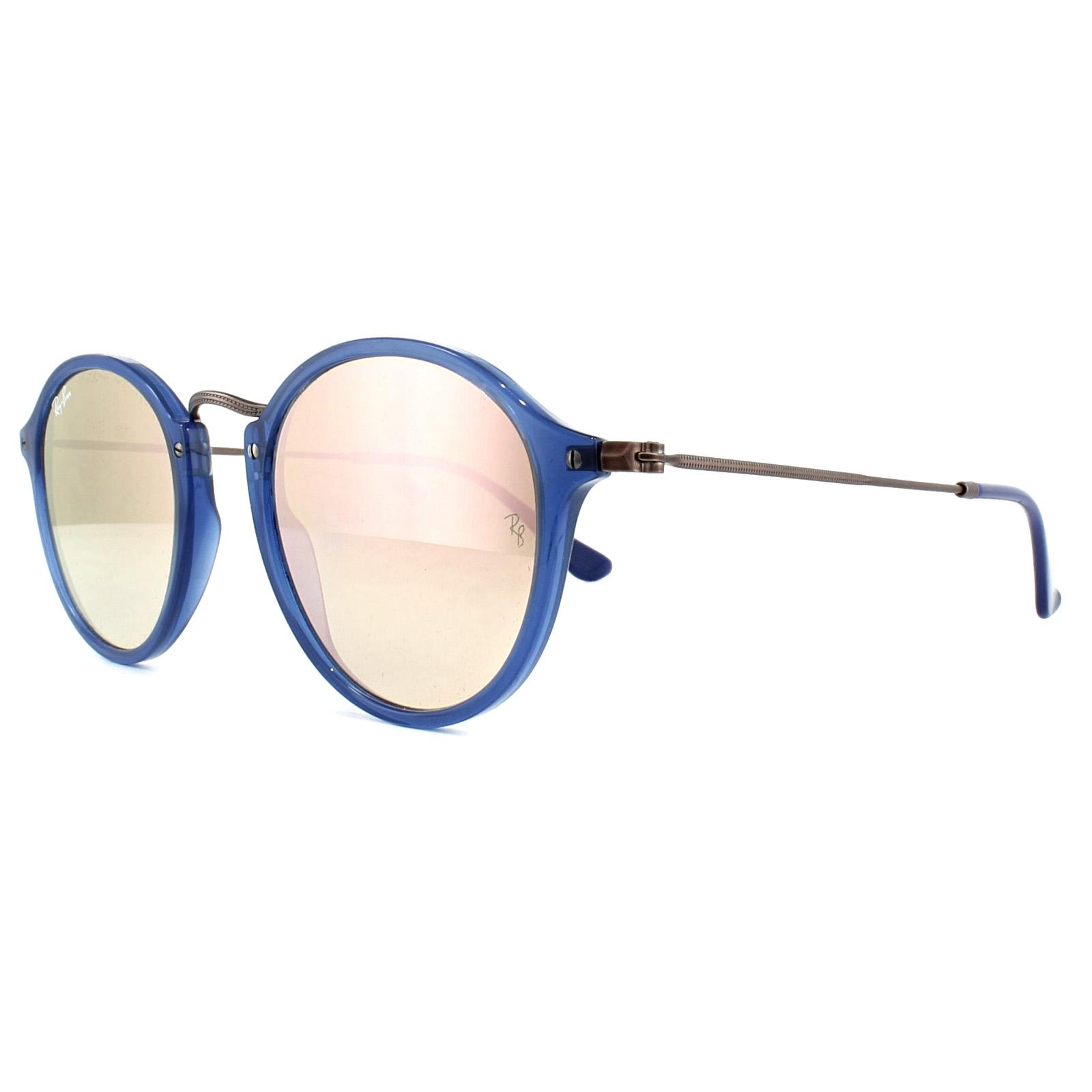 d006183318 Sentinel Ray-Ban Sunglasses 2447N Flat Lenses 62547O Blue Brown Copper  Mirror 49mm