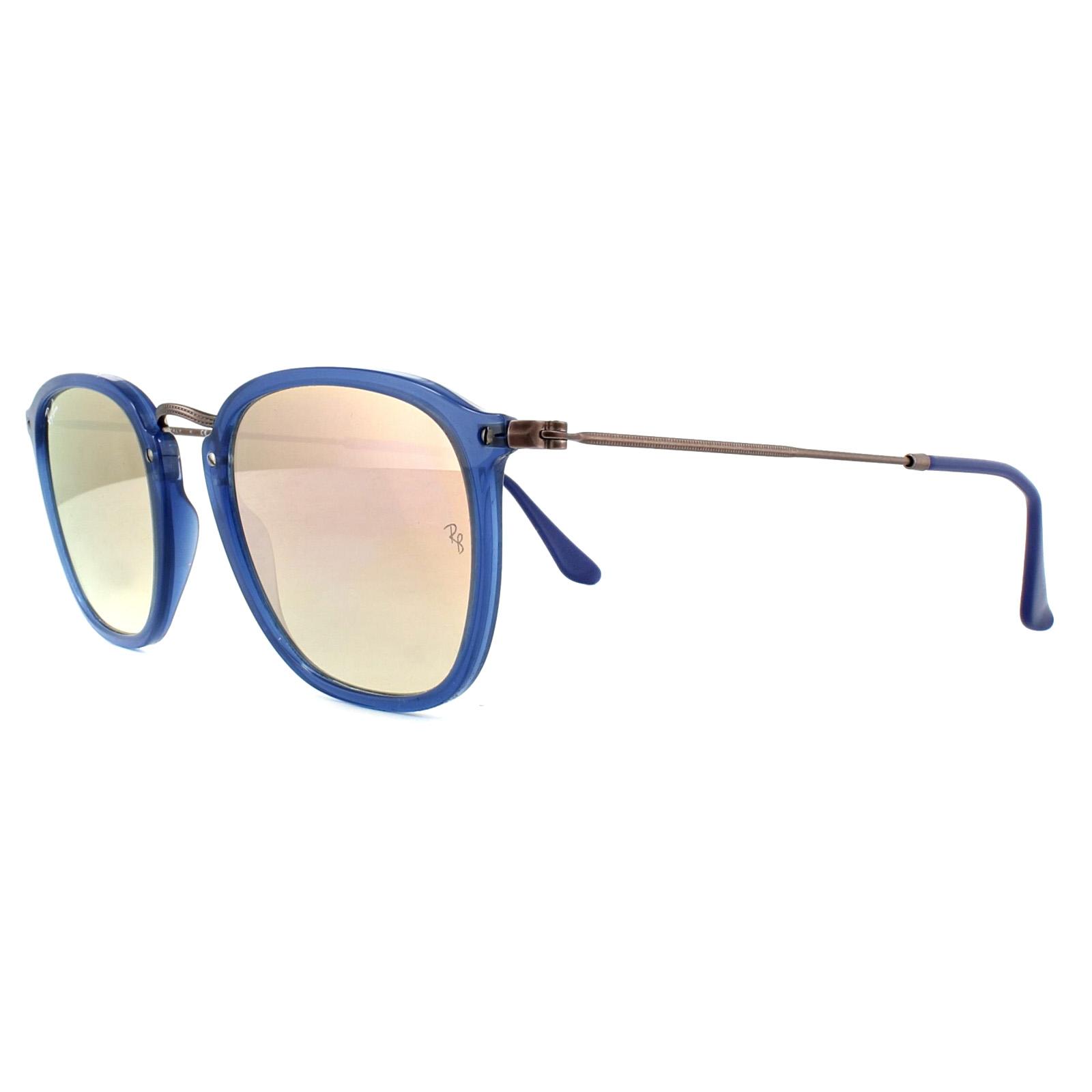 3f512f7388 Sentinel Ray-Ban Sunglasses 2448N 62547O Blue Brown Copper Gradient Mirror
