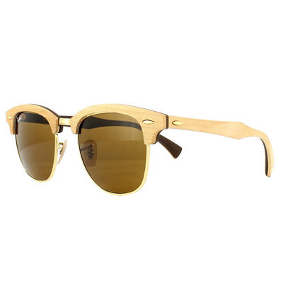 Ray-Ban Sunglasses Clubmaster Wood 3016M 1179 Maple Brown