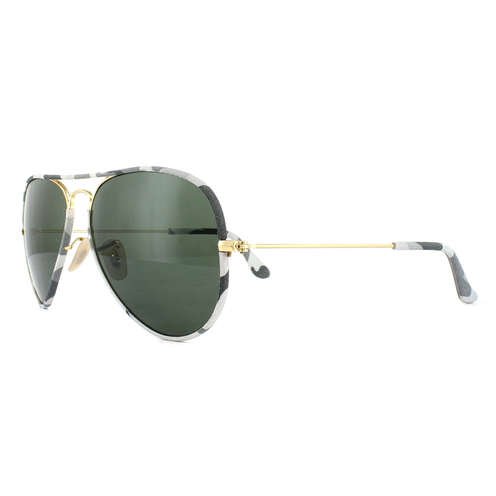 c3189fcf40 Sentinel Ray-Ban Sunglasses Aviator Full Colour 3025JM 171 Grey Camo Gold  Green G-15