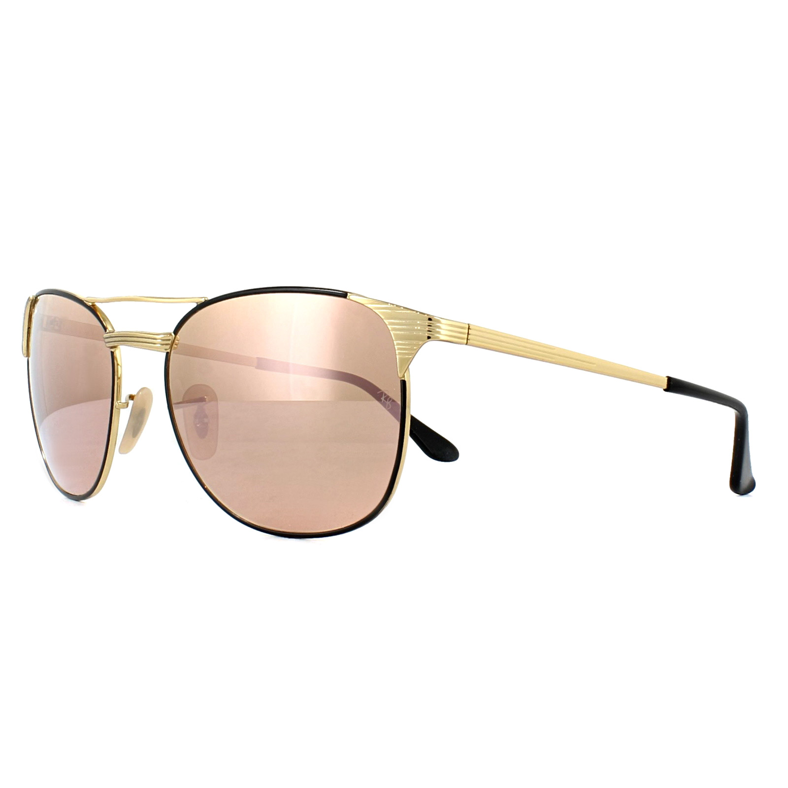 bd0f4994d51 Sentinel Ray-Ban Sunglasses Signet 3429M 9000Z2 Black Gold Copper Mirror