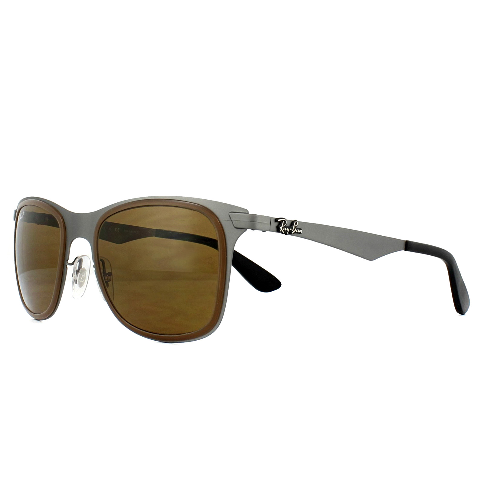 b54f8b0275 clearance sentinel ray ban sunglasses wayfarer flat metal 3521m 029 83  gunmetal brown polarized d86fa 08c0c