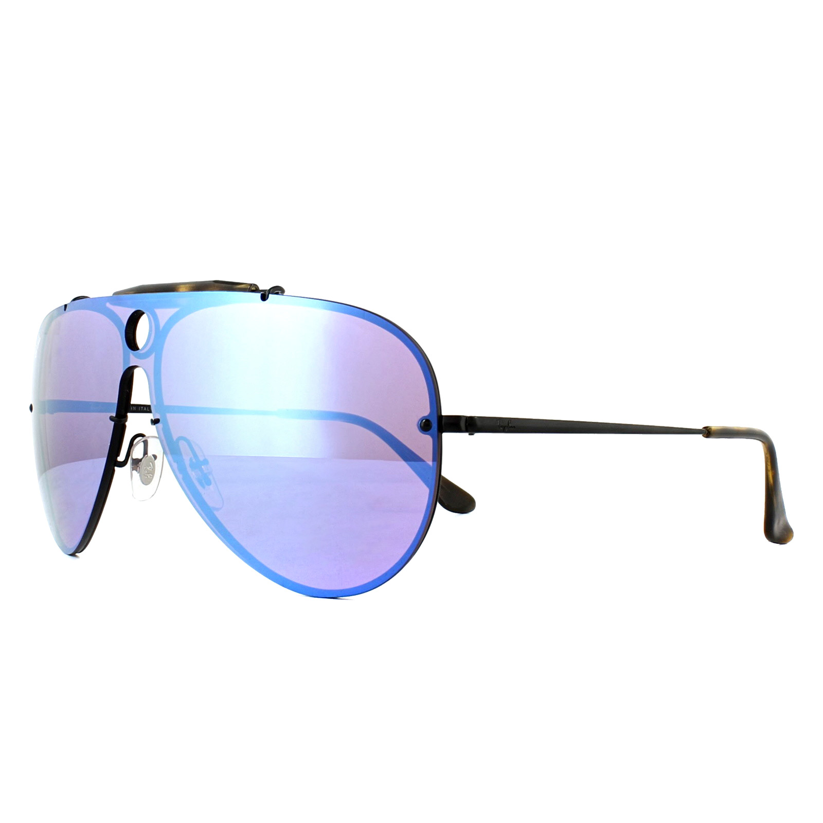 ba82a13f45 Sentinel Ray-Ban Sunglasses Blaze Shooter 3581N 153/7V Black Violet Blue  Mirror