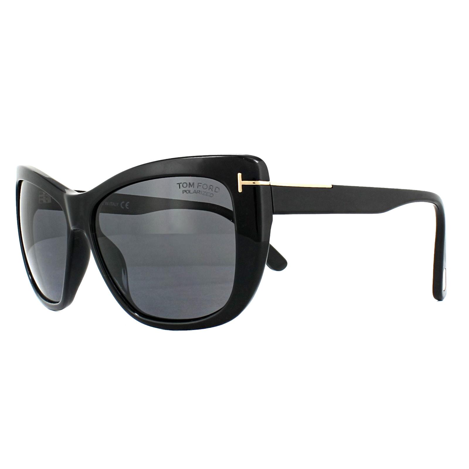 beb5695545 Sentinel Tom Ford Sunglasses 0434 Lindsay 01D Shiny Black Smoke Grey  Polarized