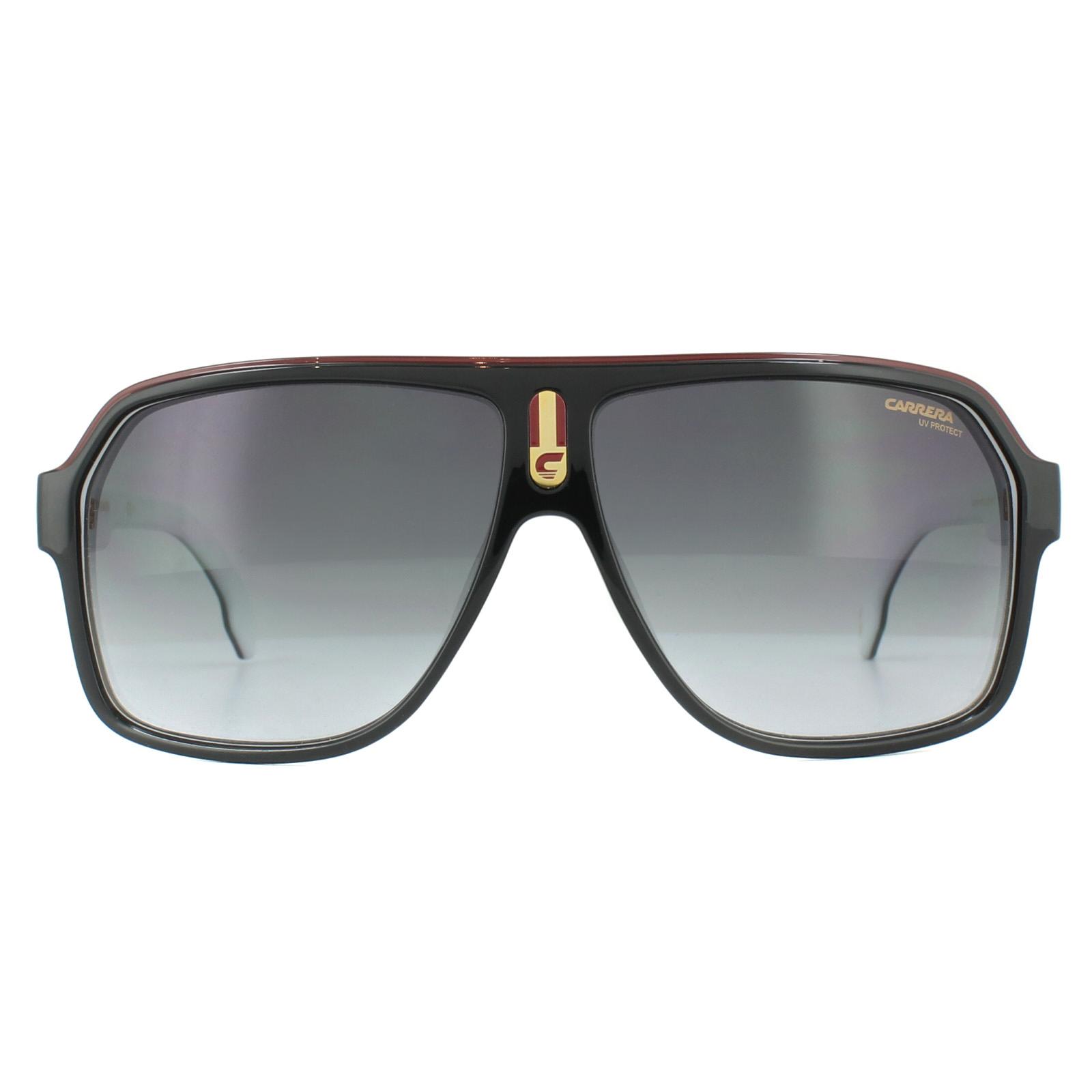 f0f03e9e414 Sentinel Carrera Sunglasses 1001 S 80S 9O Black White Dark Grey Gradient