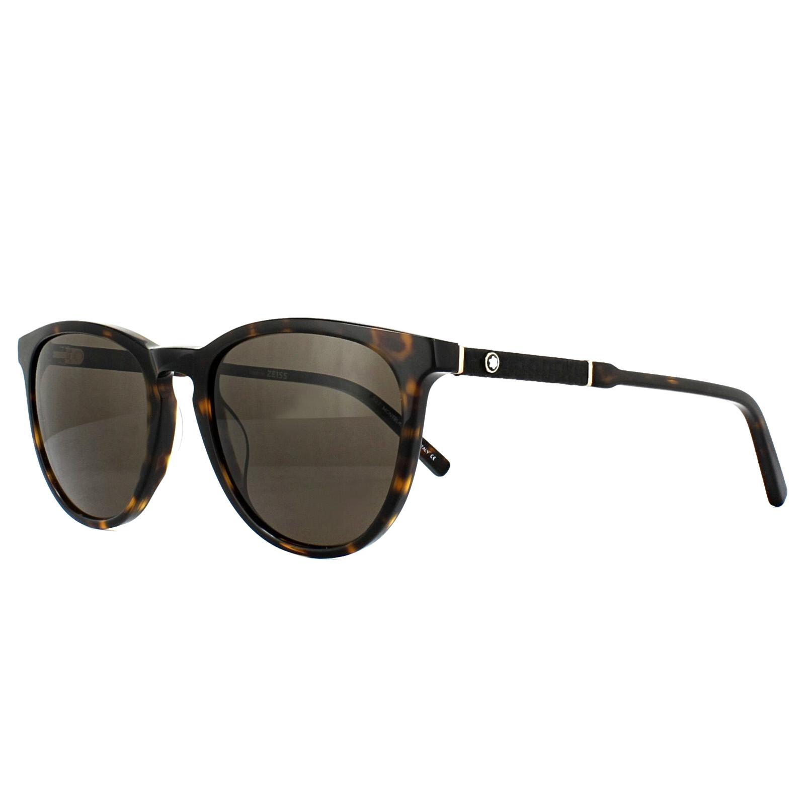 68104e7b0c9f Sentinel Mont Blanc Sunglasses MB588S 52E Dark Havana Brown