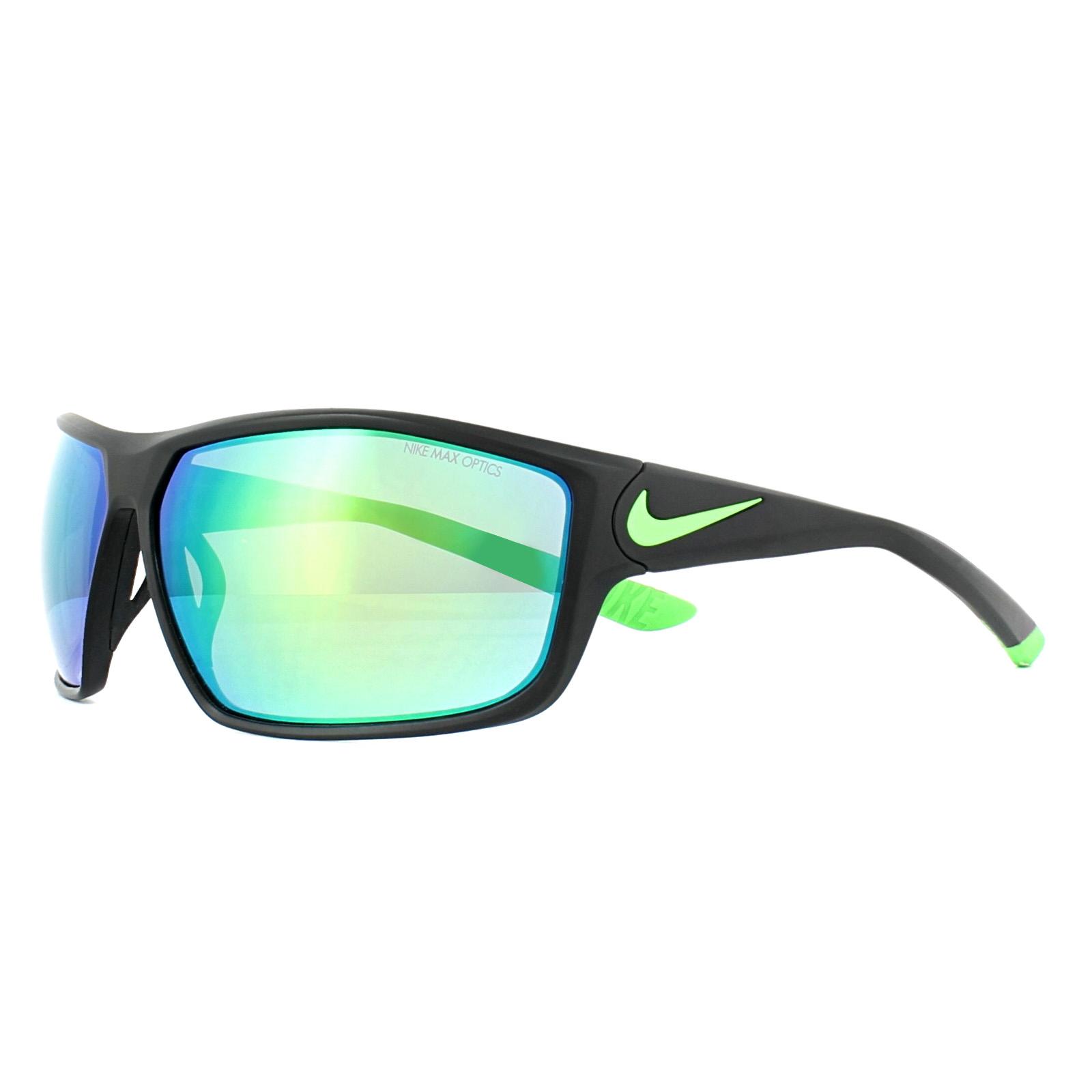 0c9c7a6baf Sentinel Nike Sunglasses Ignition R EV0867 003 Matt Black Green Grey Mirror  Green