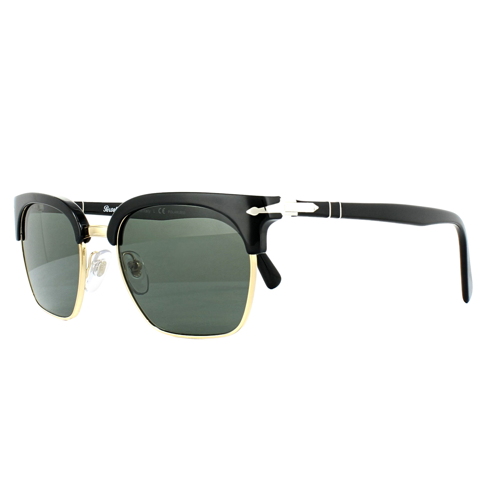 47f0bf1547a6 Persol Sunglasses PO3199S 95/58 Black Green Polarized 8053672870381 ...