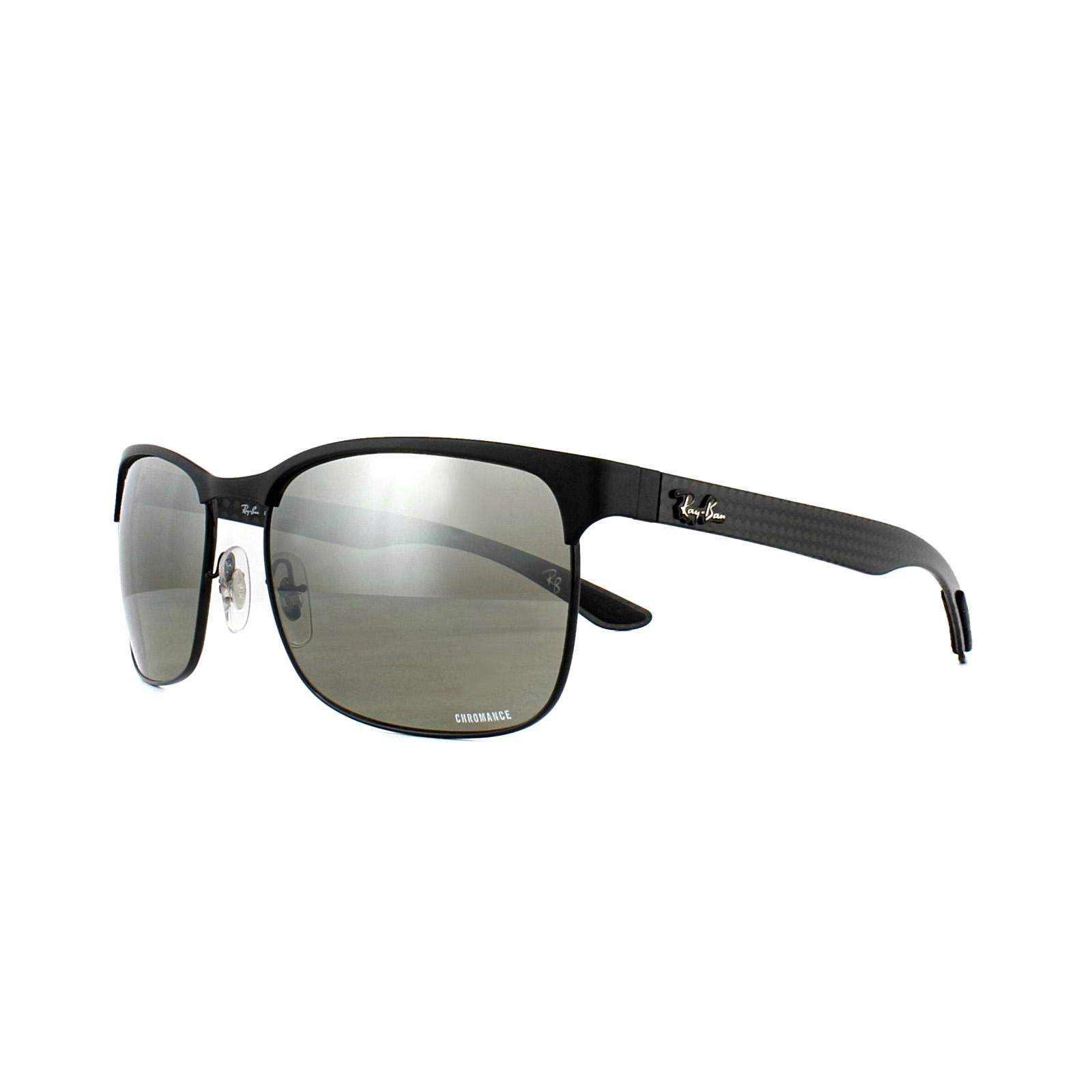 9cda57f687 Sentinel Ray-Ban Sunglasses RB8319CH 186 5J Black Silver Mirror Polarized  Chromance
