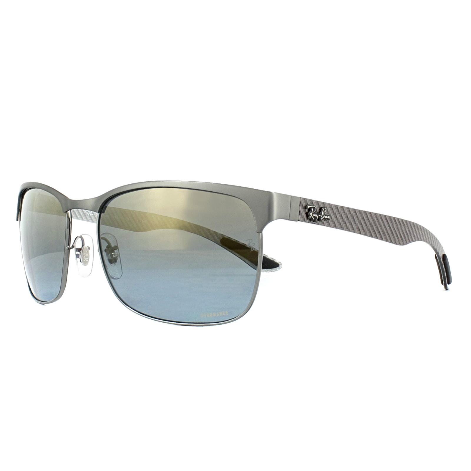 c8e711c30e Sentinel Ray-Ban Sunglasses RB8319CH 9075J0 Gunmetal Blue Mirror Polarized  Chromance