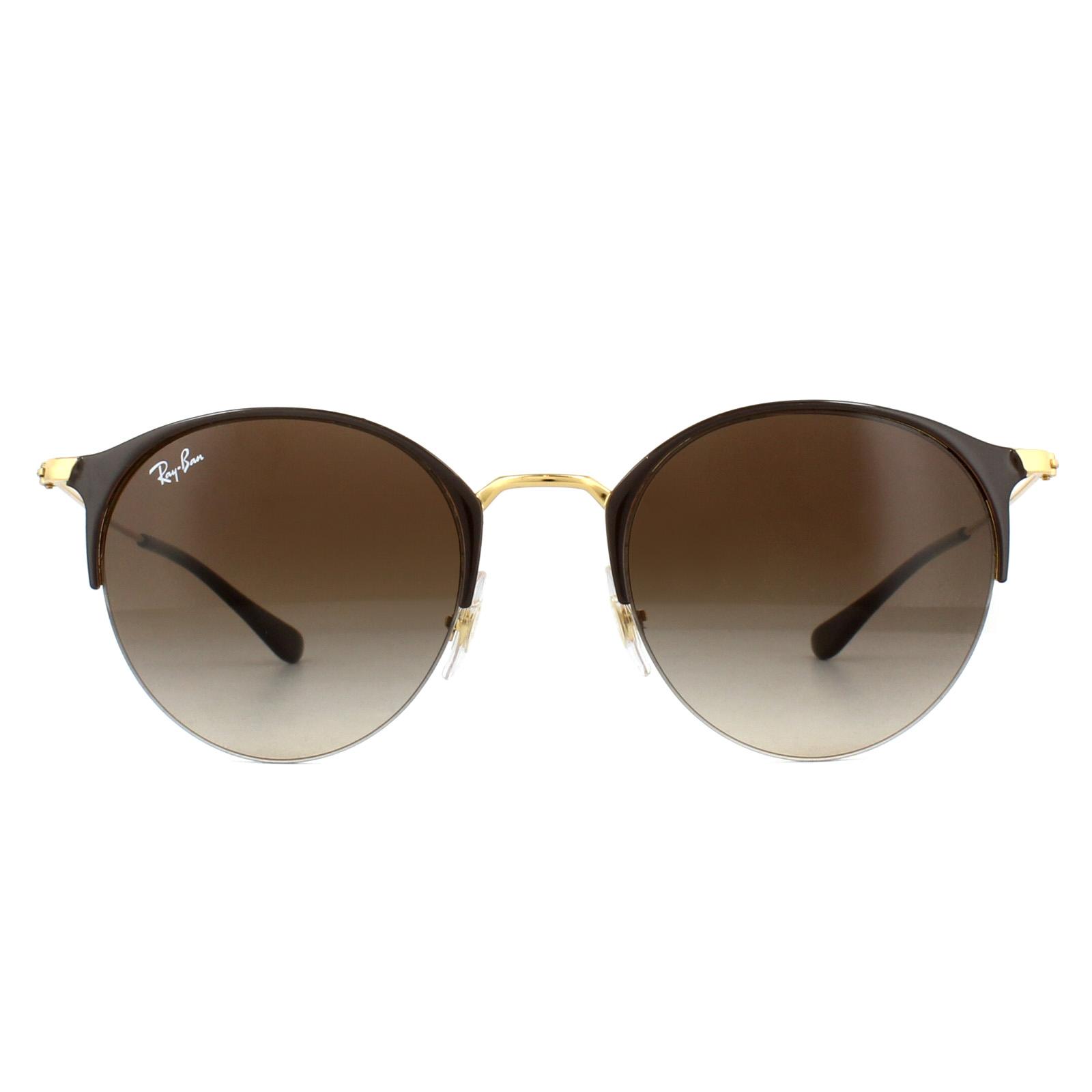 bc2b7a1702e Sentinel Ray-Ban Sunglasses RB3578 900913 Brown Gold Brown Gradient