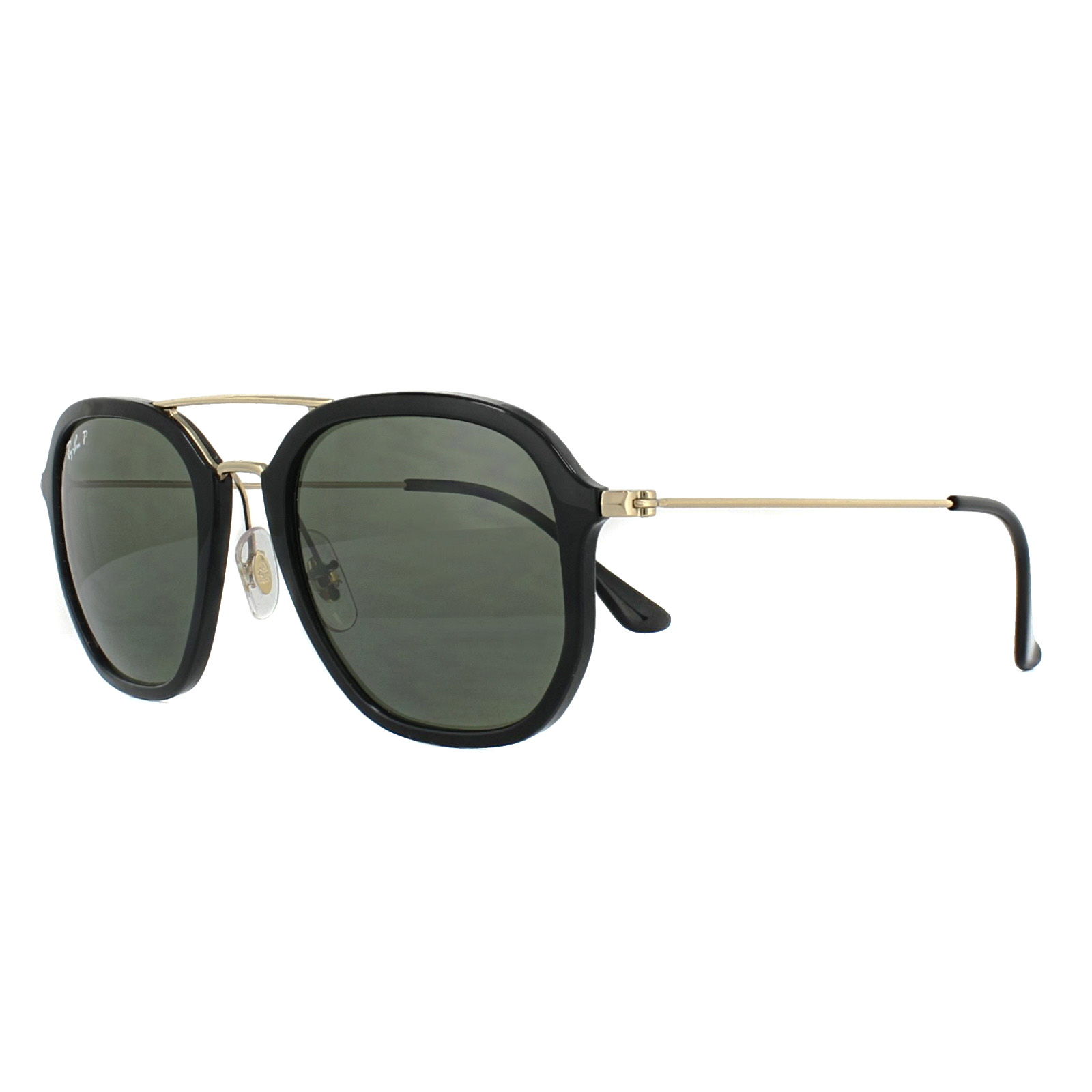 e3a40e0224 Details about Ray-Ban Sunglasses 4273 601 9A Black Gold Green Polarized