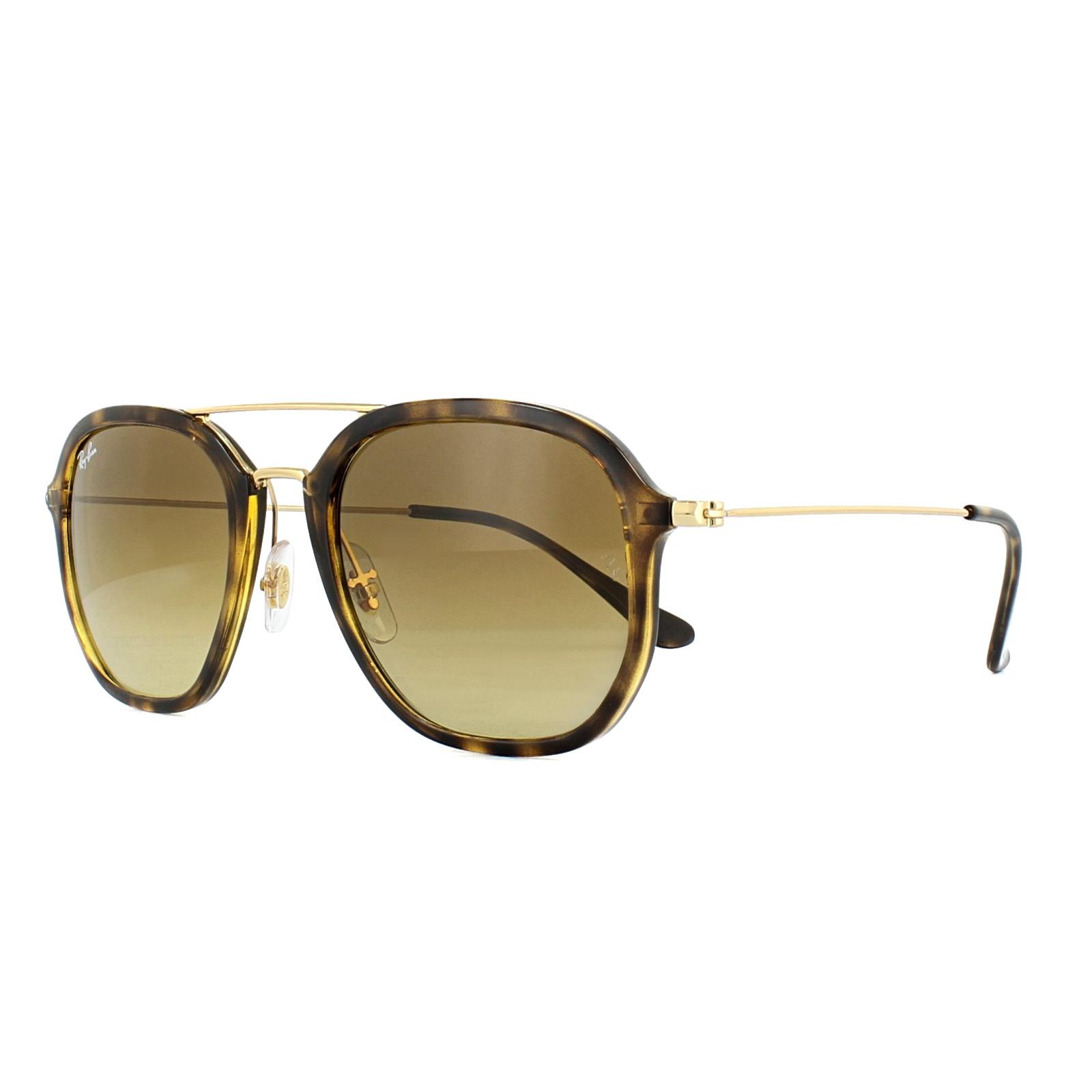 d65b7cfa0f Sentinel Ray-Ban Sunglasses 4273 710 85 Tortoise Gold Brown Gradient