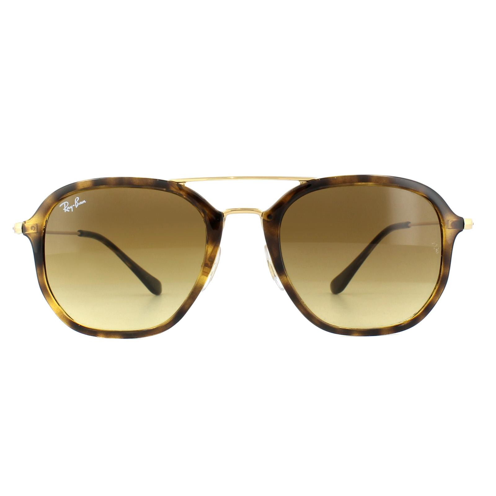 abba297e557 Sentinel Ray-Ban Sunglasses 4273 710 85 Tortoise Gold Brown Gradient