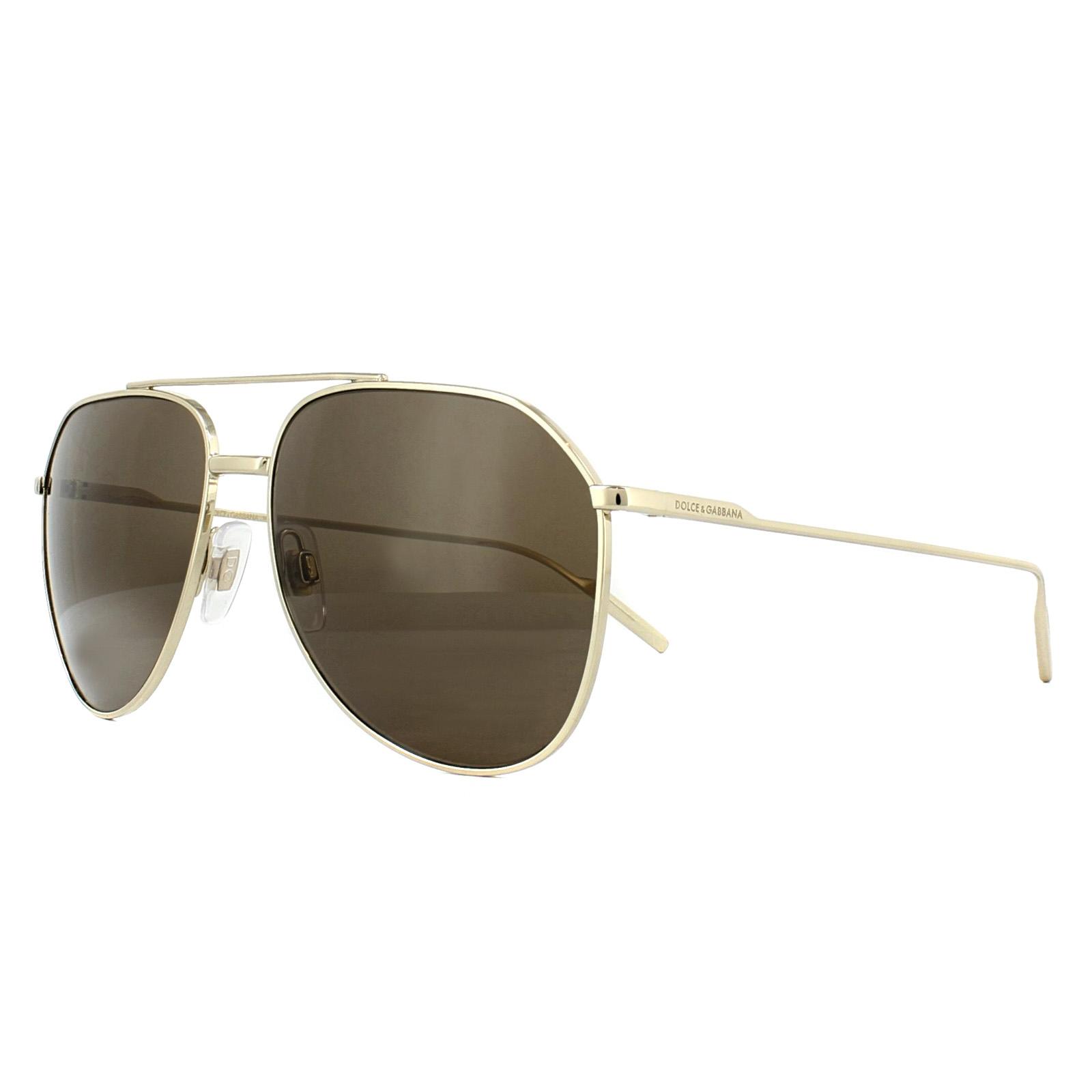 24631b63999 Sentinel Dolce   Gabbana Sunglasses DG2166 488 73 Pale Gold Brown