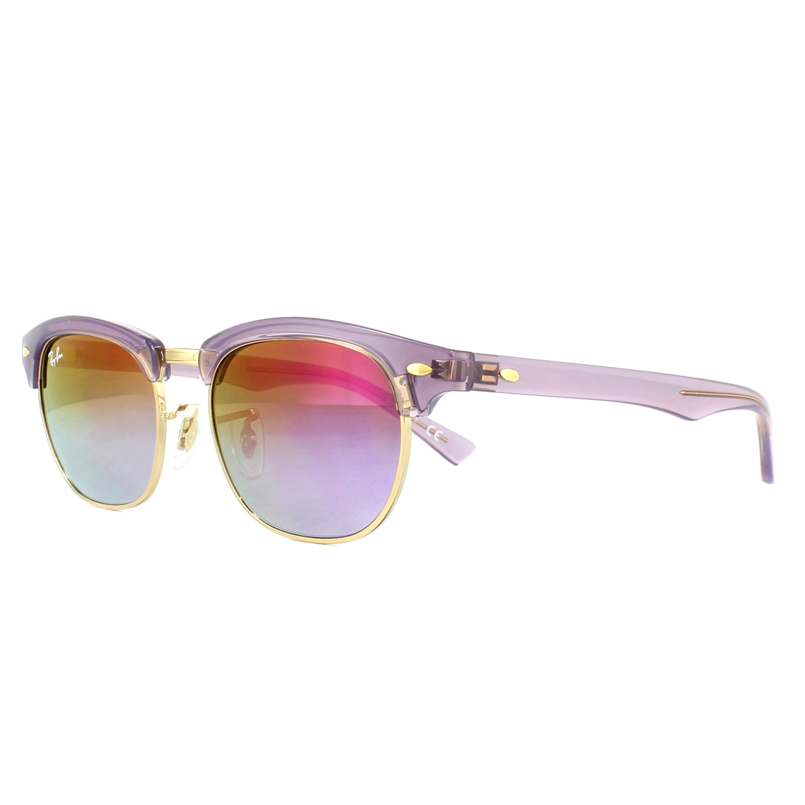 ef03def3320 Sentinel Ray-Ban Junior Sunglasses 9050S 7036A9 Violet Violet Gradient  Mirror 47mm